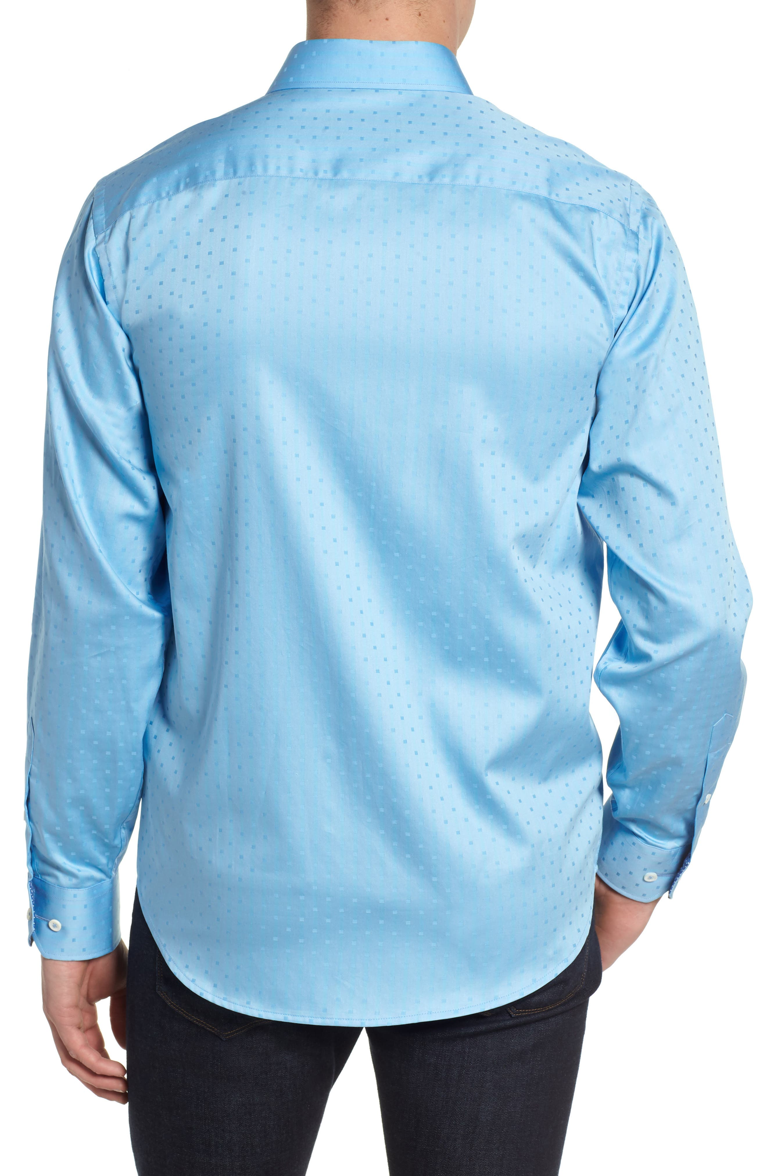 BUGATCHI,                             Woven Sport Shirt,                             Alternate thumbnail 2, color,                             504