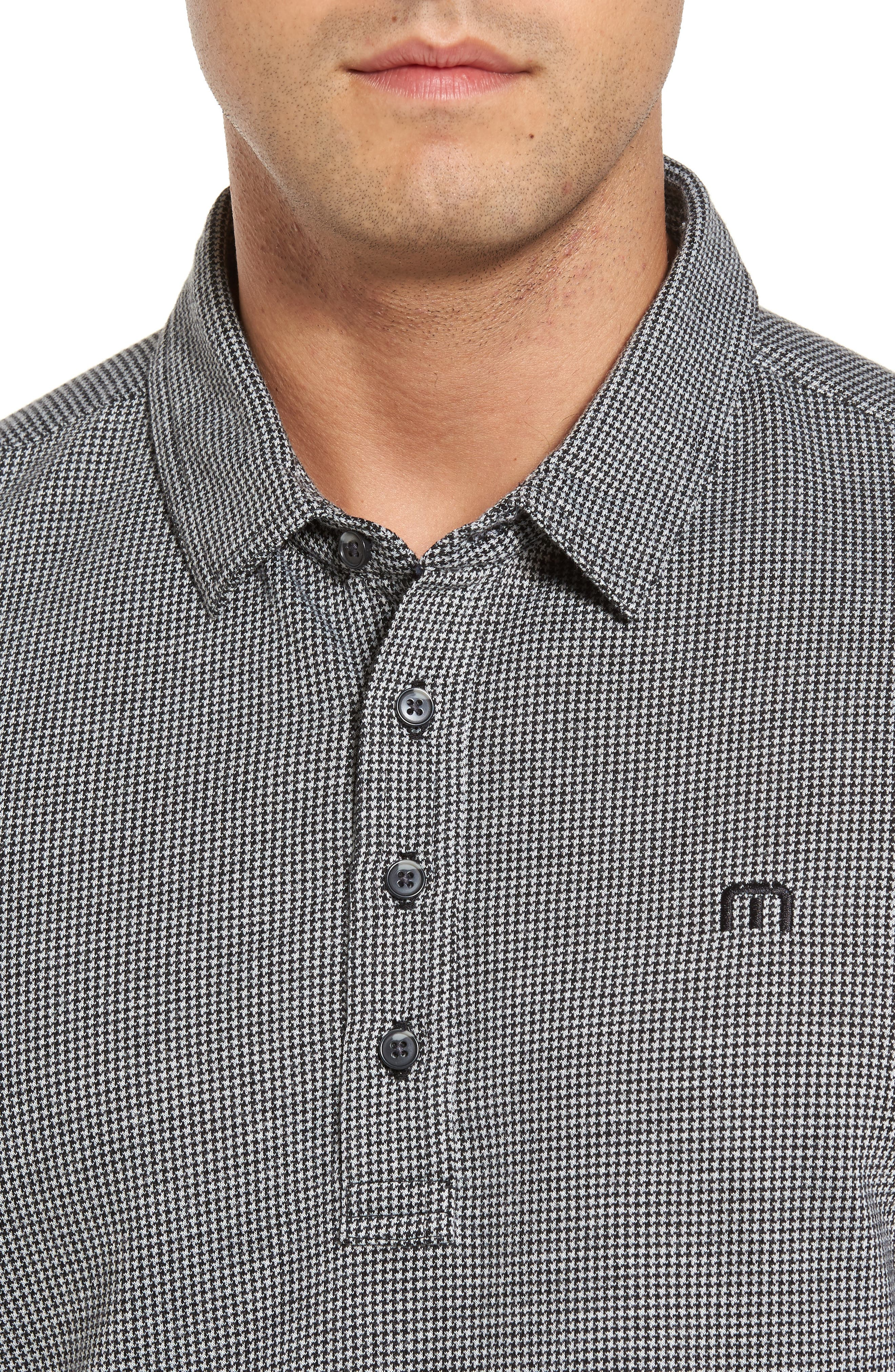 Lawrence Houndstooth Polo,                             Alternate thumbnail 4, color,                             100