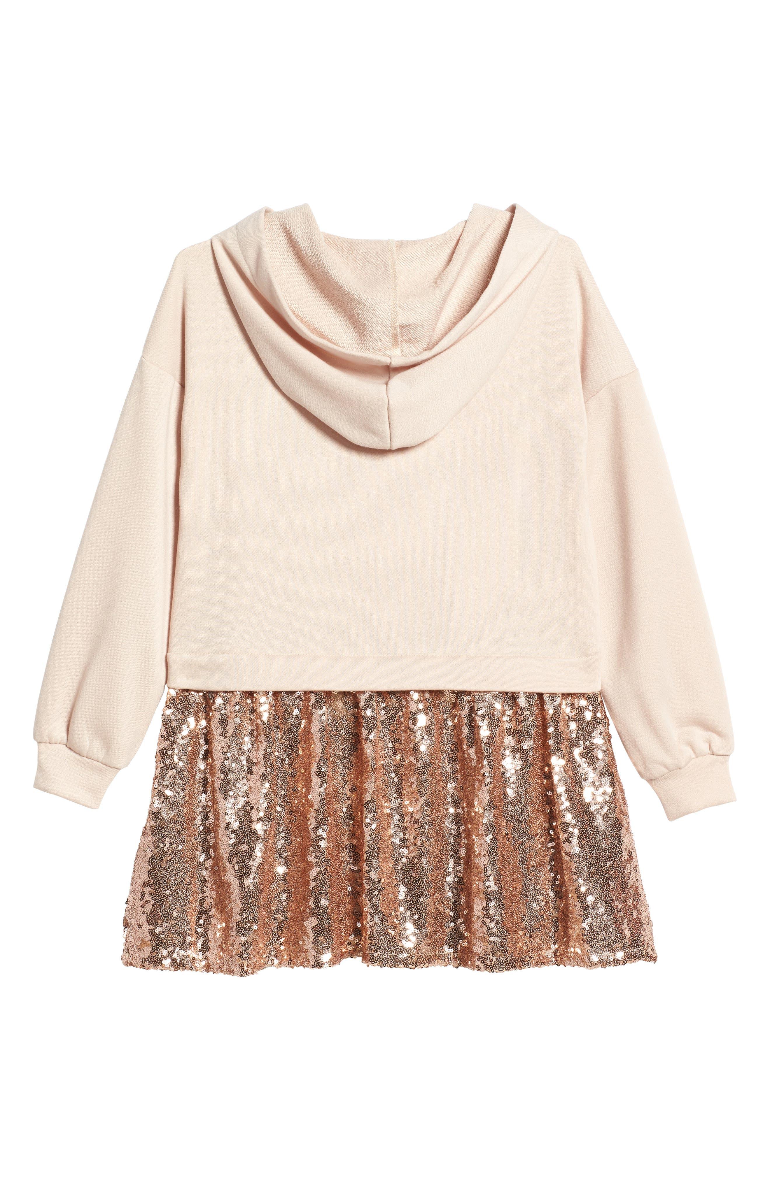 Hooded Sequin Dress,                             Alternate thumbnail 2, color,                             650