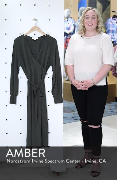 Ribbed Faux Wrap Dress, sales video thumbnail