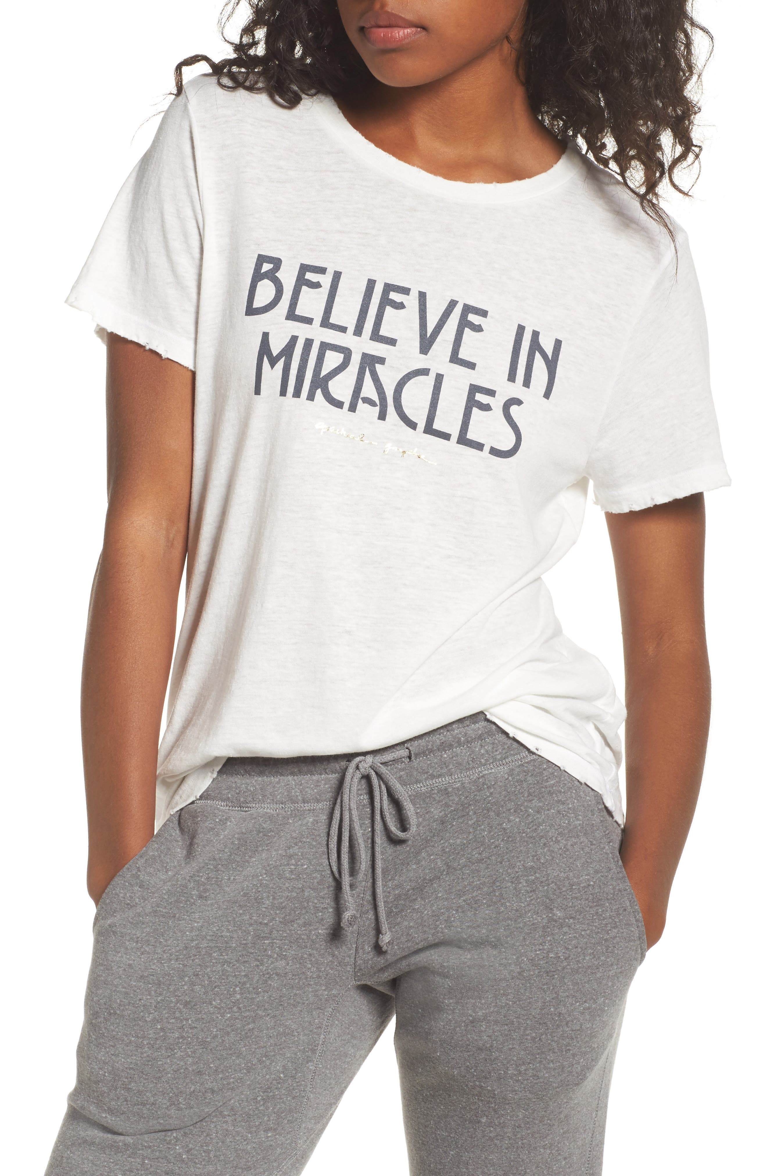 Believe In Miracles Tee,                             Main thumbnail 1, color,                             114