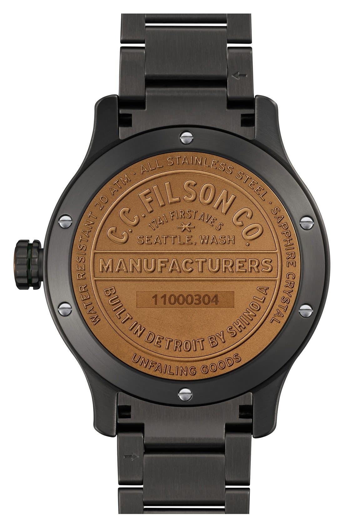 'The Mackinaw Field' Bracelet Watch, 43mm,                             Alternate thumbnail 3, color,                             020