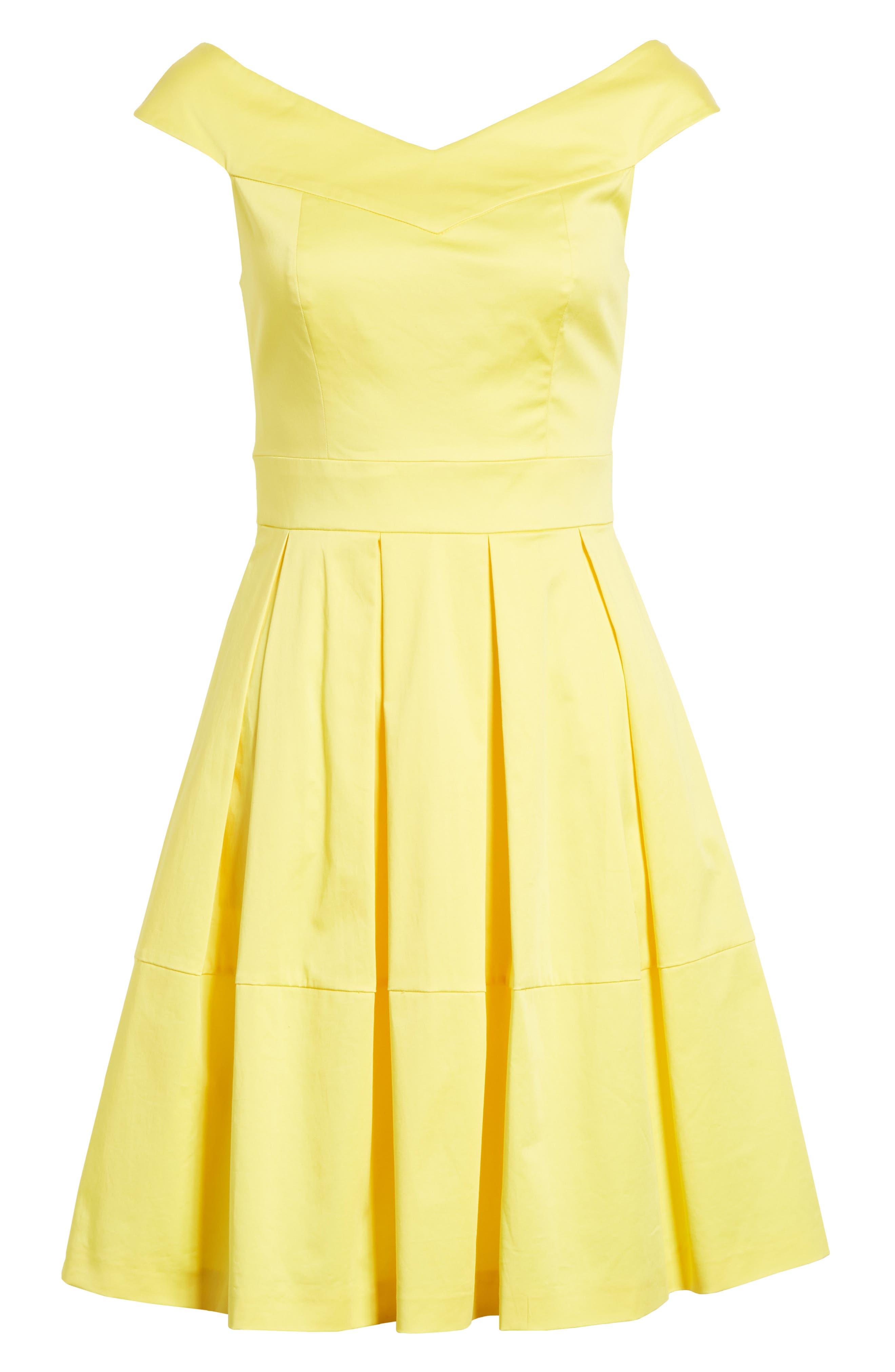 Jullee Off the Shoulder Stretch Cotton Dress,                             Alternate thumbnail 6, color,                             720