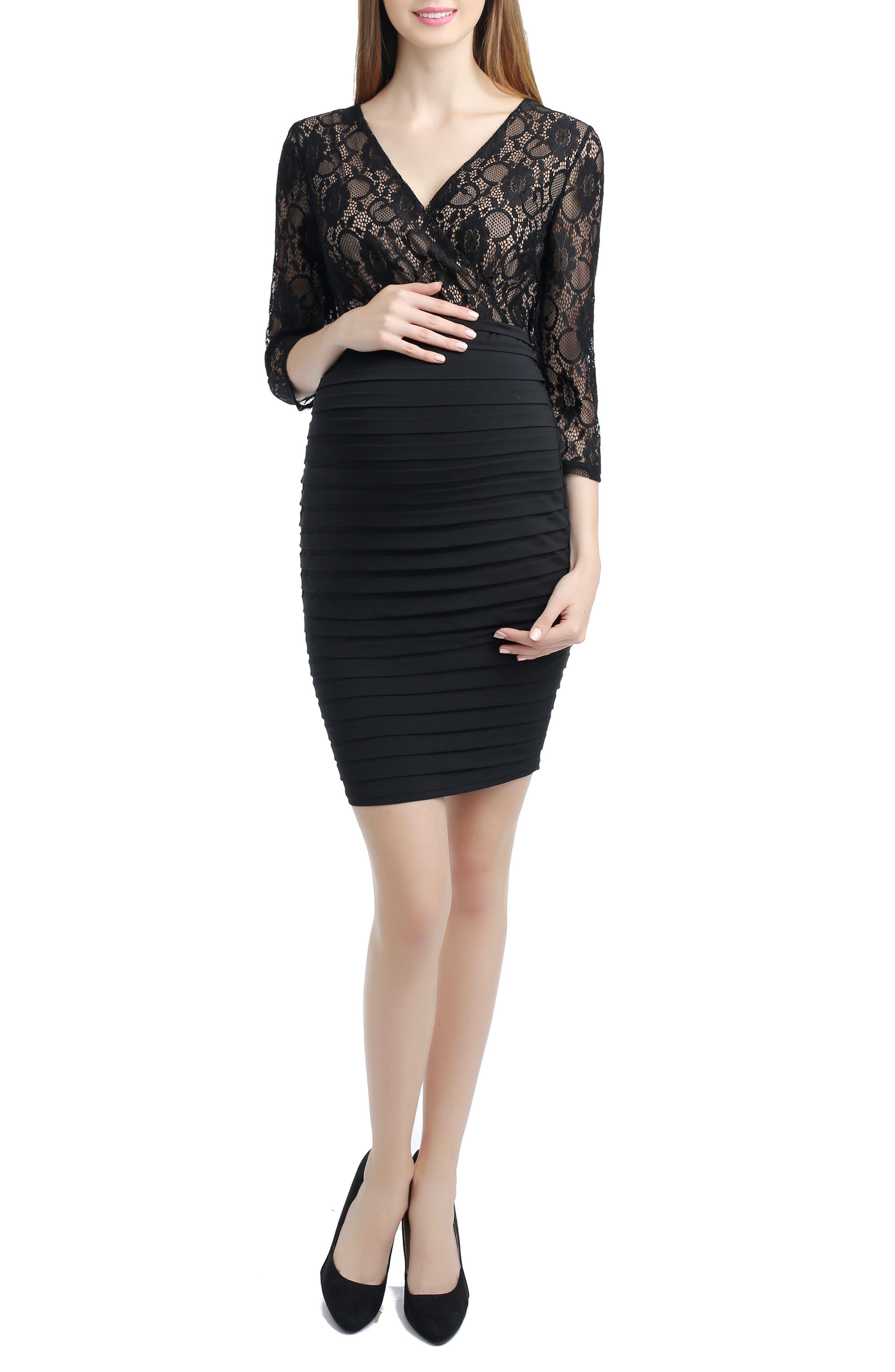 Greta Lace Maternity Dress,                             Main thumbnail 1, color,                             001