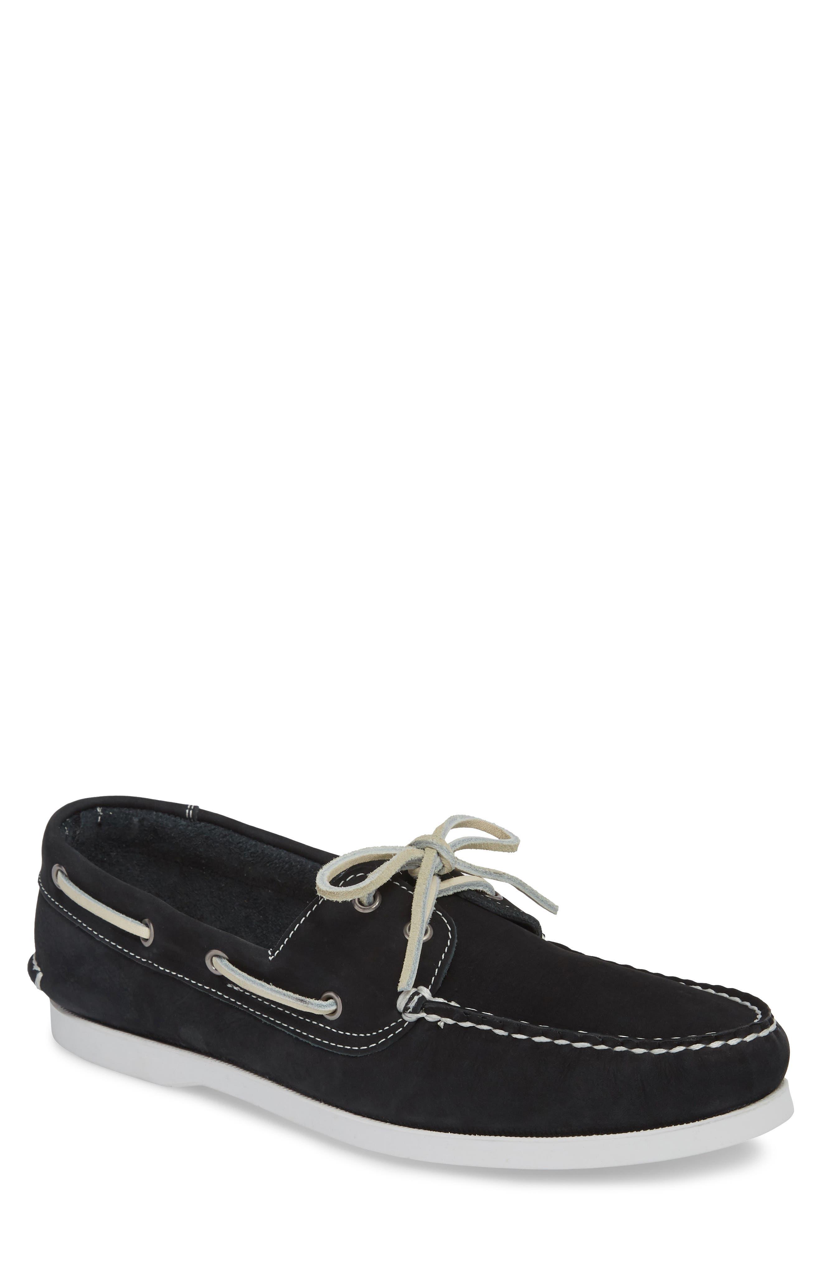 Pacific Boat Shoe,                         Main,                         color, NAVY NUBUCK