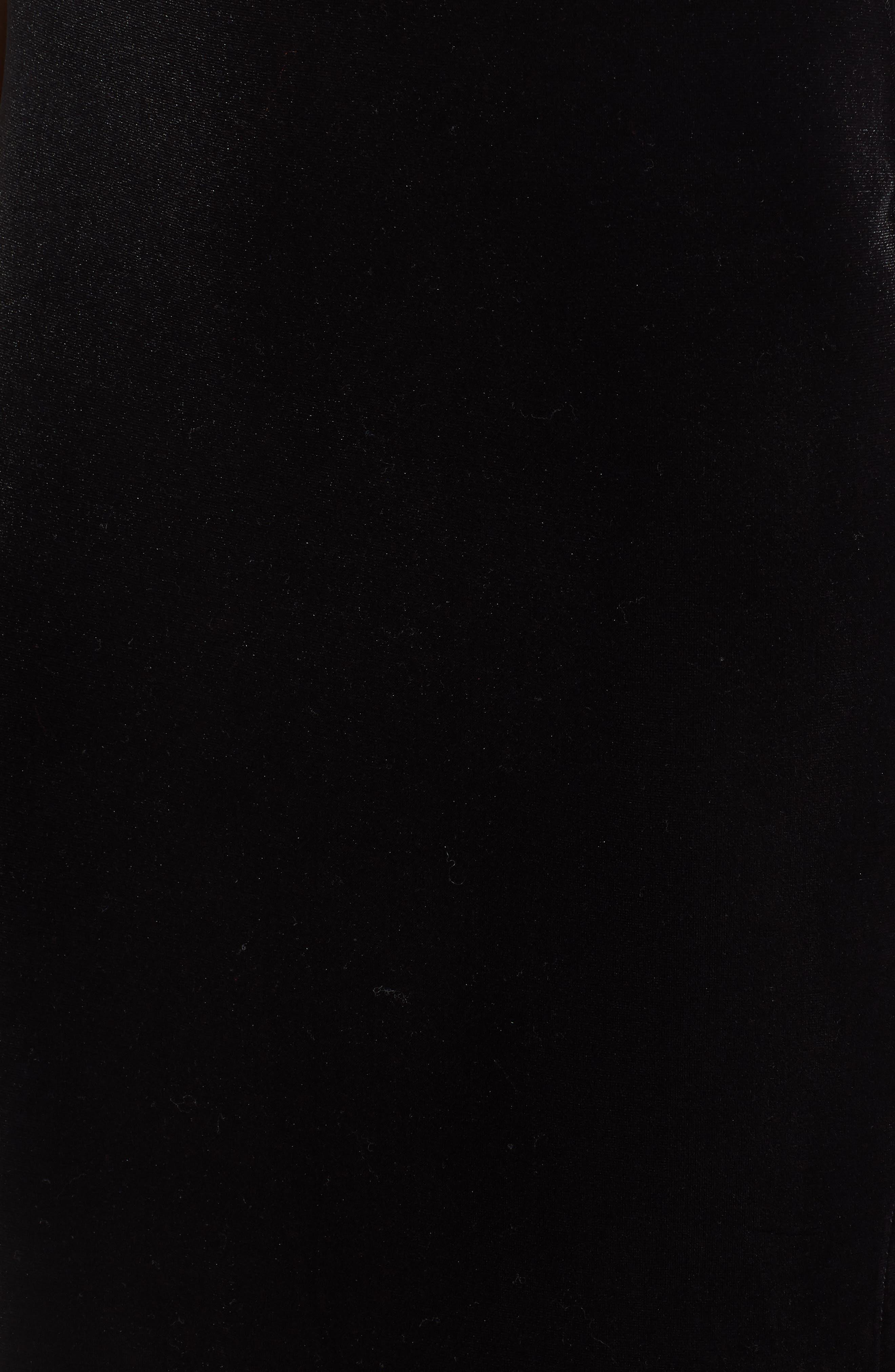 Velvet Pencil Skirt,                             Alternate thumbnail 5, color,                             001
