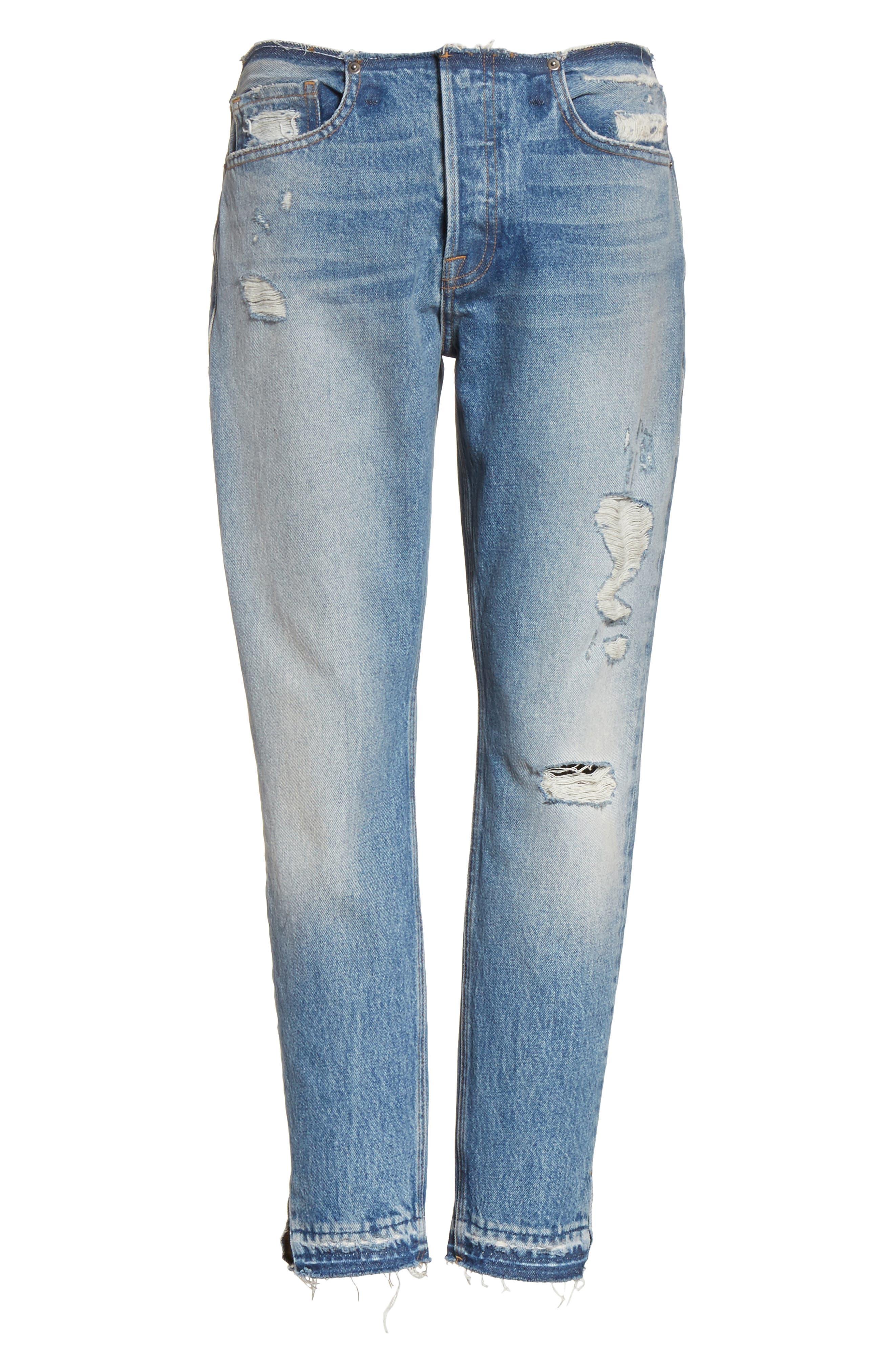 Re-Release Le Original Raw Edge High Waist Jeans,                             Alternate thumbnail 7, color,