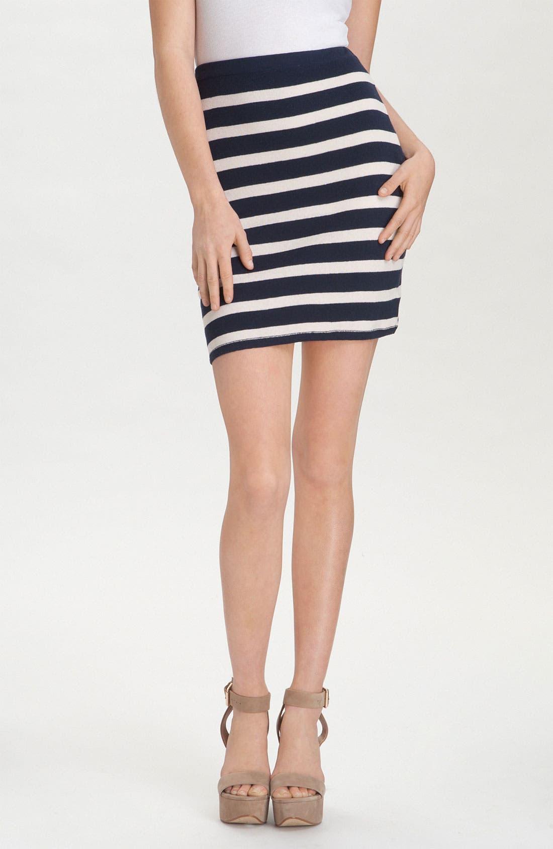 'Skipper' Stripe Pencil Skirt,                             Main thumbnail 1, color,                             400