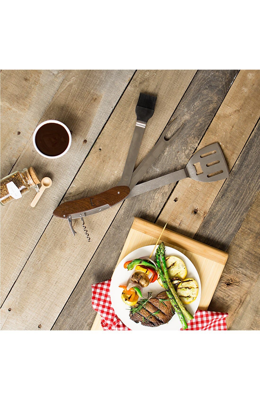 Monogram 5-in-1 Grill Tool,                             Alternate thumbnail 5, color,                             BROWN - A