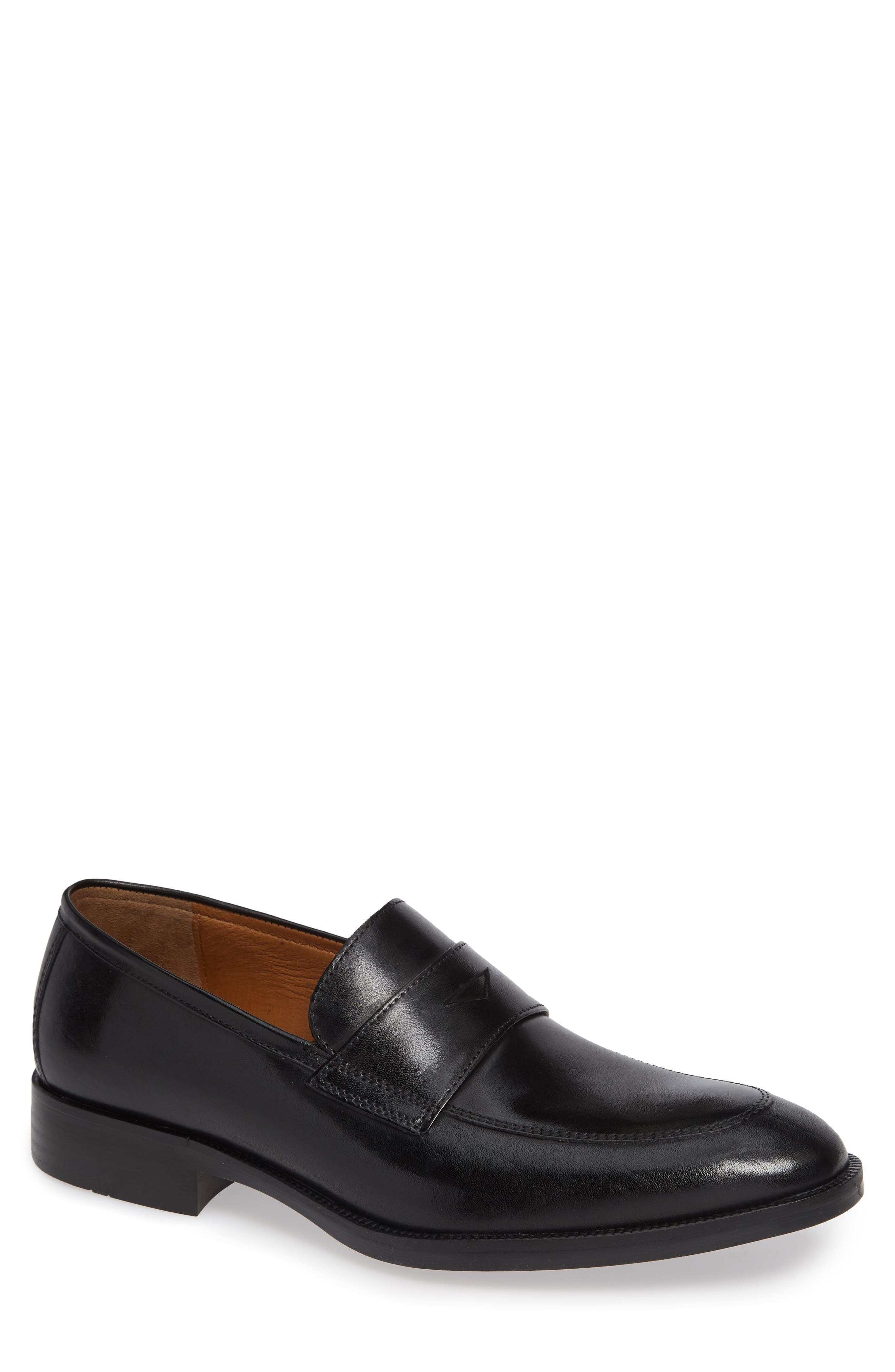 Alcott Penny Loafer,                             Main thumbnail 1, color,                             BLACK LEATHER
