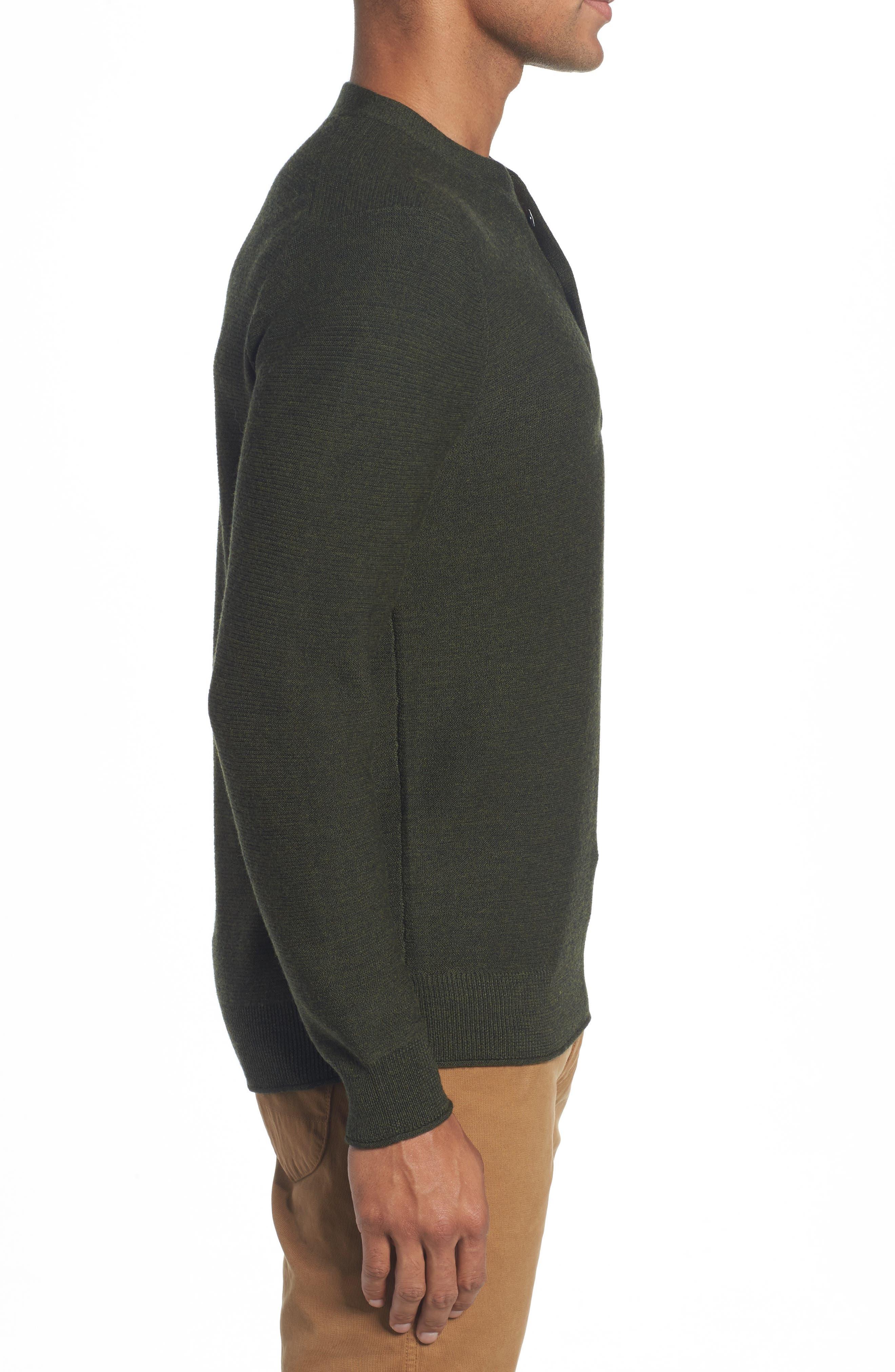 Slim Fit Merino Long Sleeve Henley Sweater,                             Alternate thumbnail 3, color,                             300