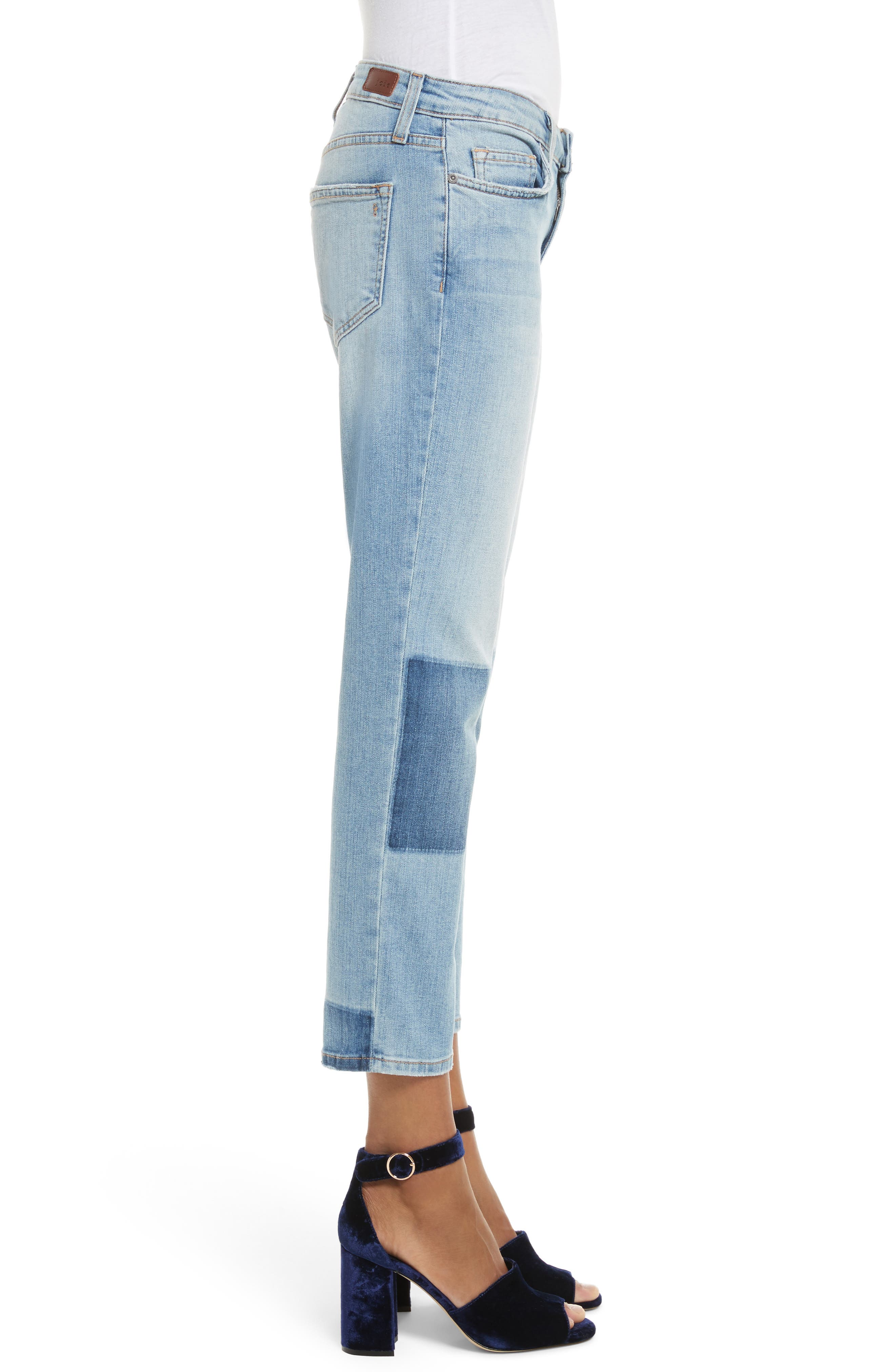 Josalind Straight Leg Crop Jeans,                             Alternate thumbnail 3, color,                             479