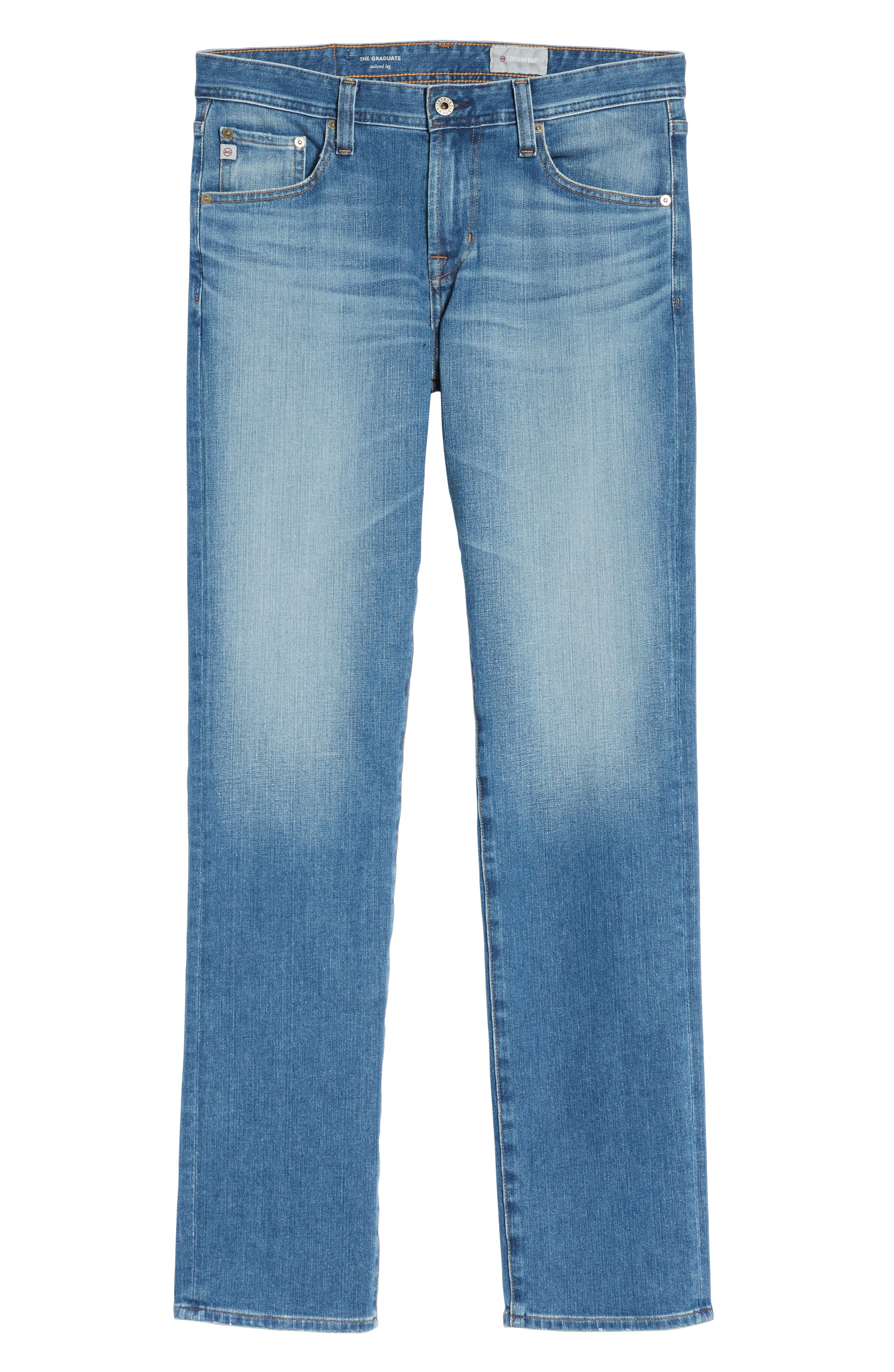 Graduate Slim Straight Fit Jeans,                             Alternate thumbnail 6, color,                             456
