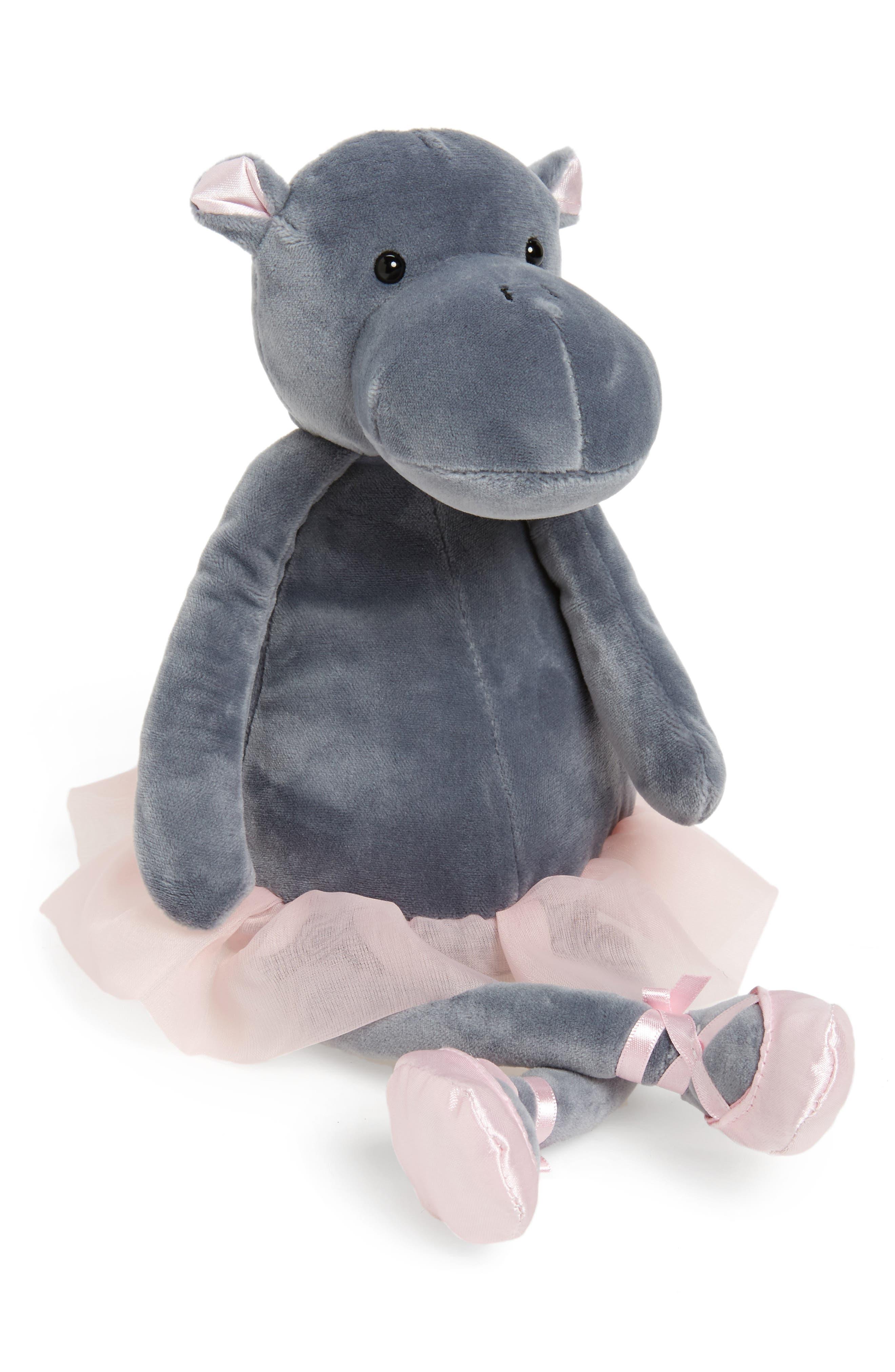 Dancing Darcey - Hippo Stuffed Animal,                             Main thumbnail 1, color,                             020