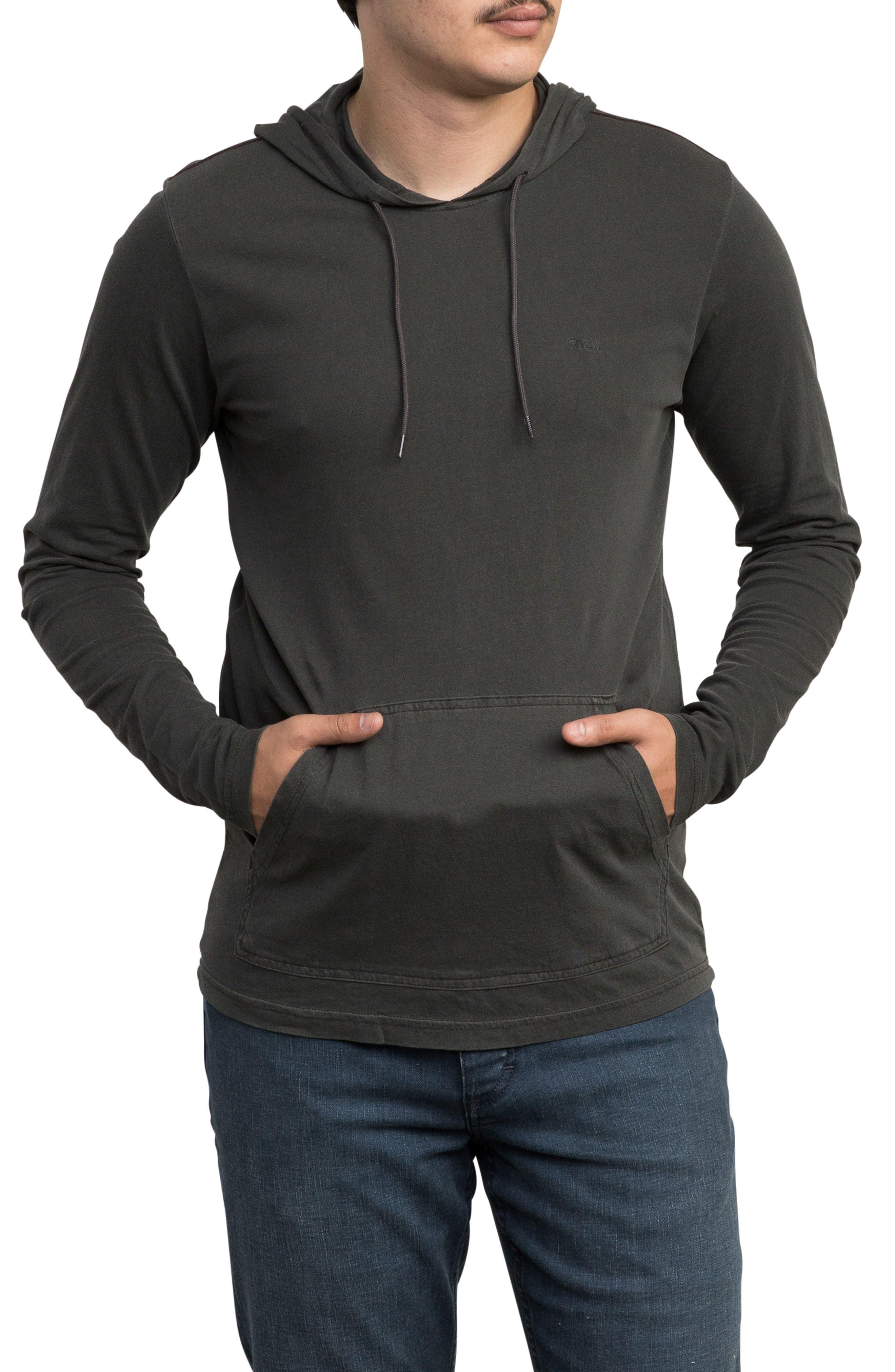 PTC Cotton Hoodie,                         Main,                         color, PIRATE BLACK