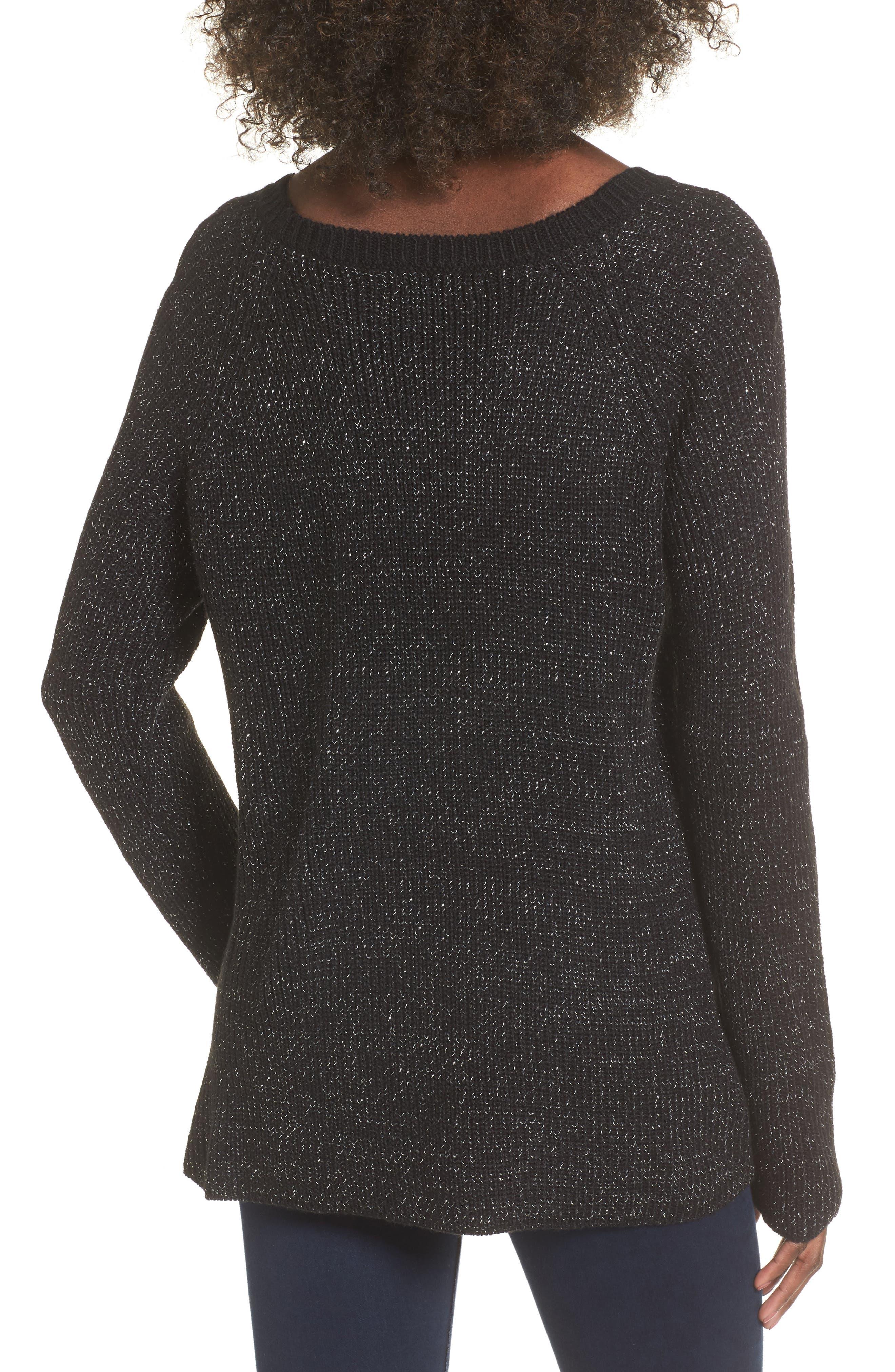 Sparkle Knit Sweater,                             Alternate thumbnail 2, color,                             001