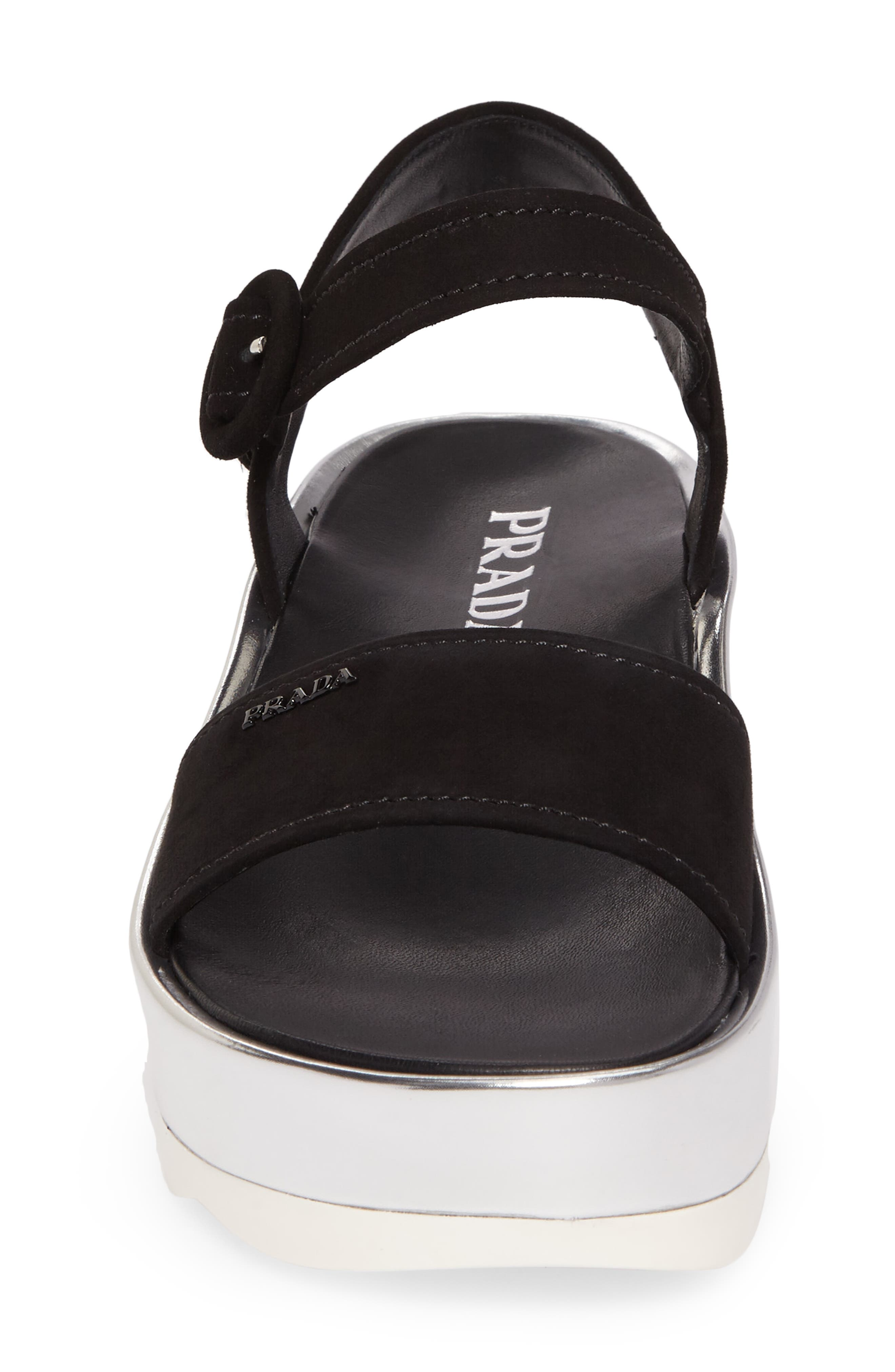 Platform Sandal,                             Alternate thumbnail 4, color,                             001