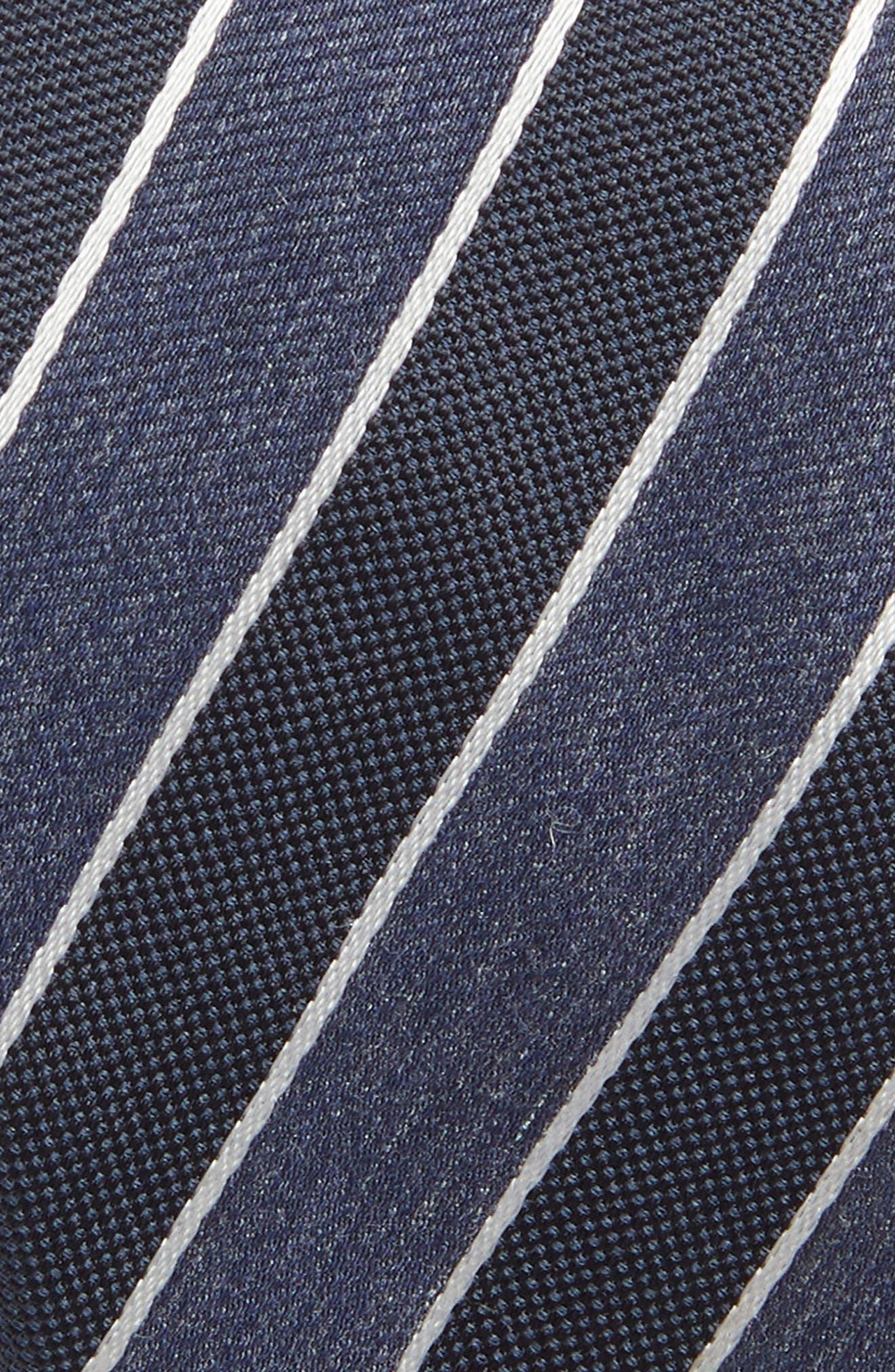 Stripe Silk Blend Tie,                             Alternate thumbnail 2, color,                             OPEN BLUE