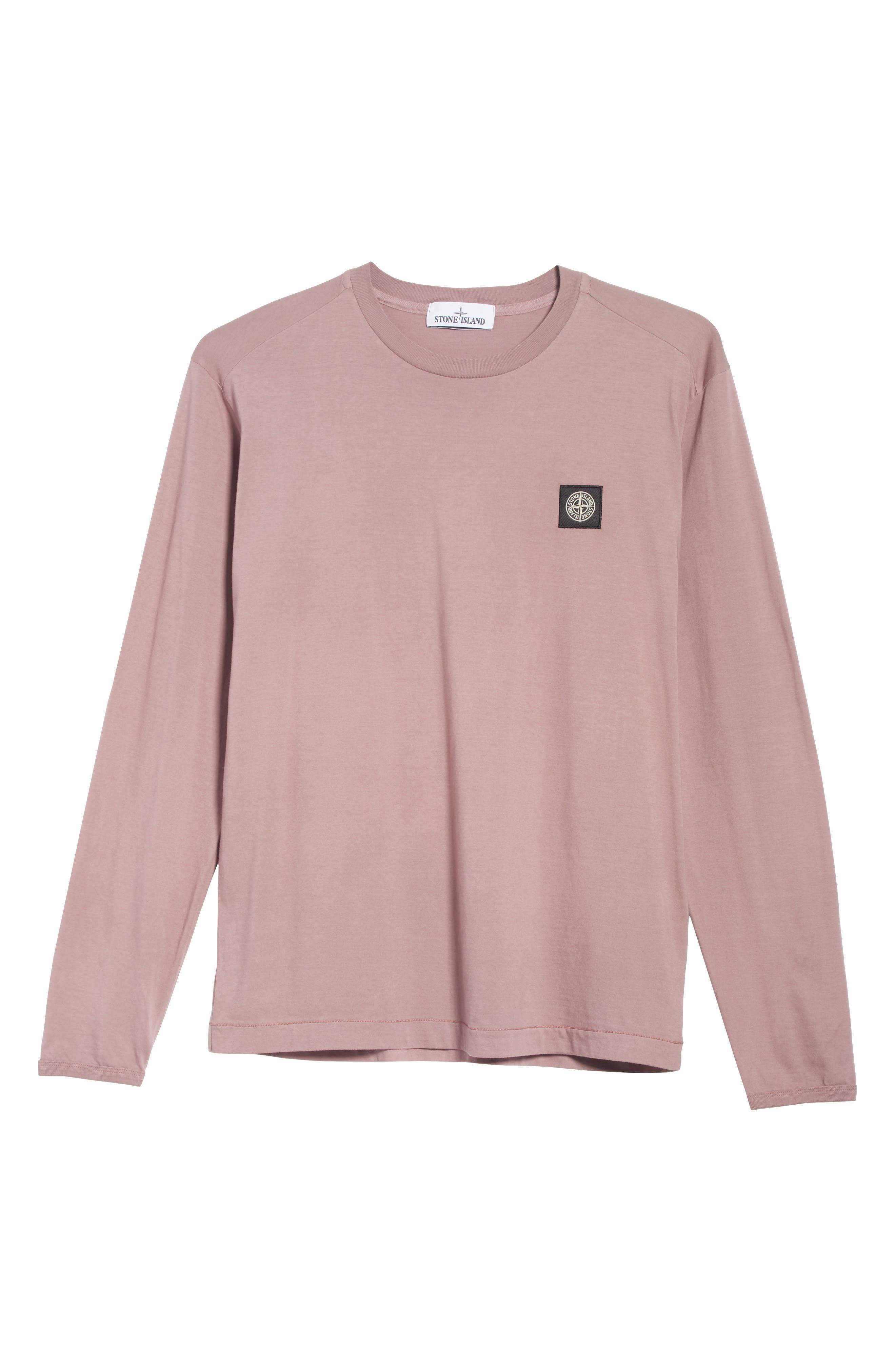 Long Sleeve T-Shirt,                             Alternate thumbnail 6, color,                             ROSE QUARTZ