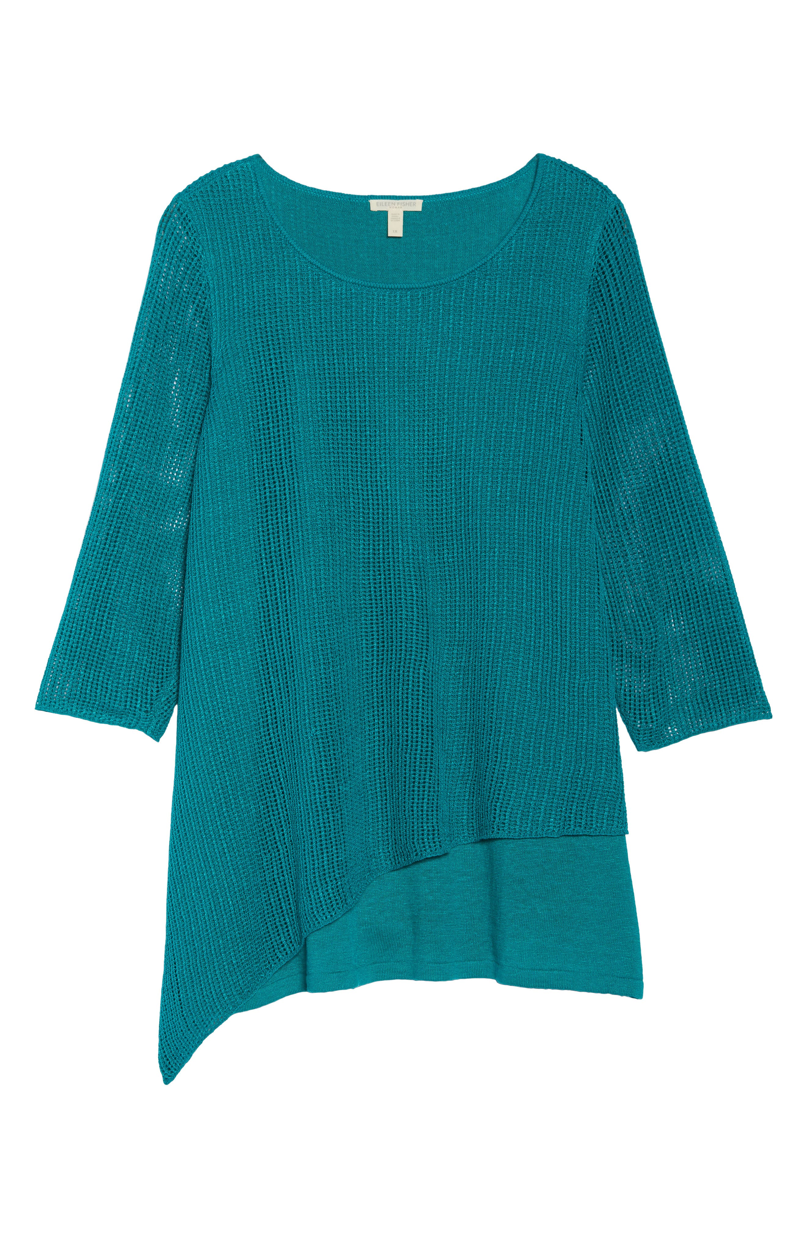 Layered Organic Linen Tunic Sweater,                             Alternate thumbnail 19, color,