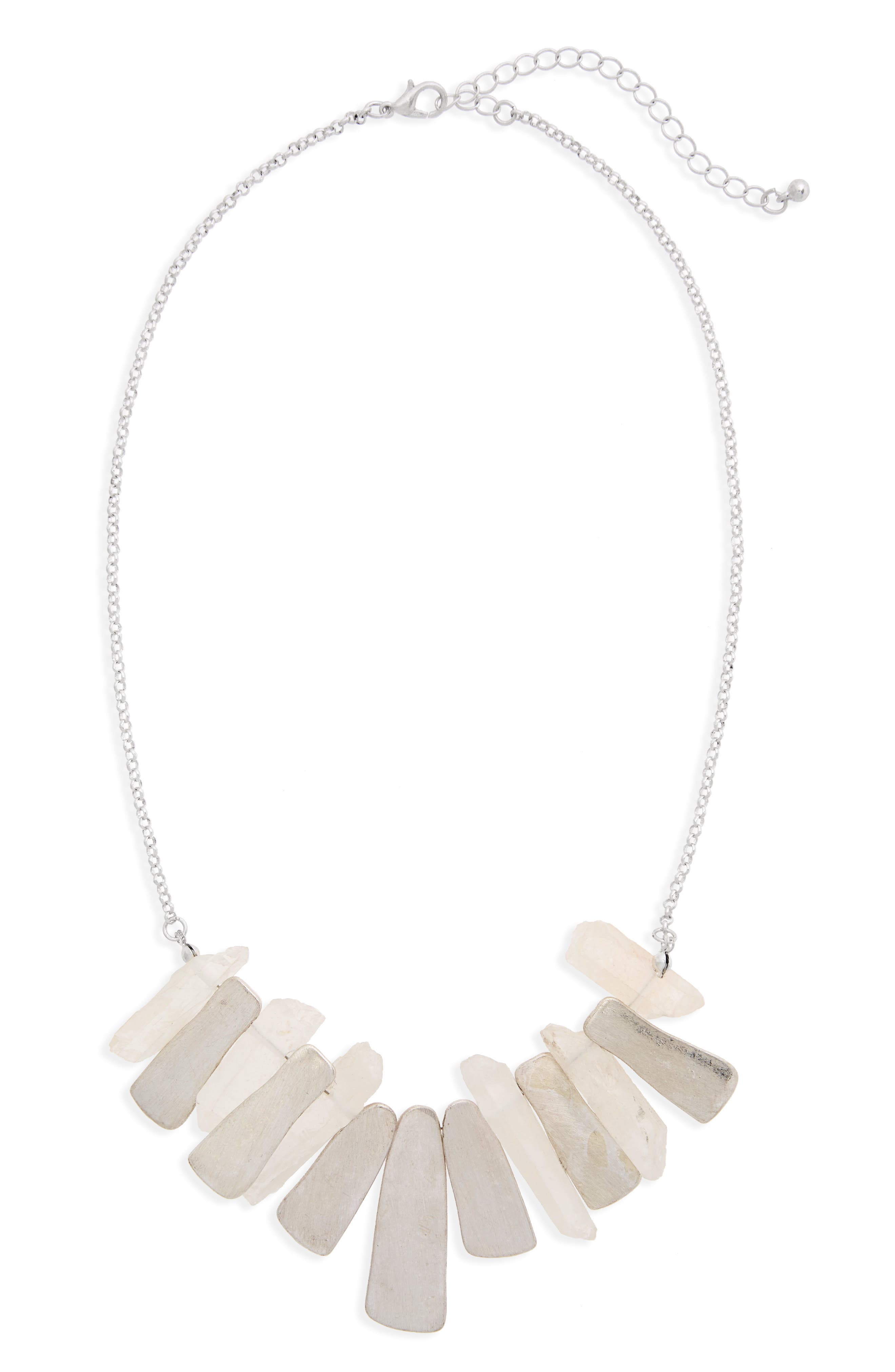 Pyrite Stone Necklace,                         Main,                         color, 040