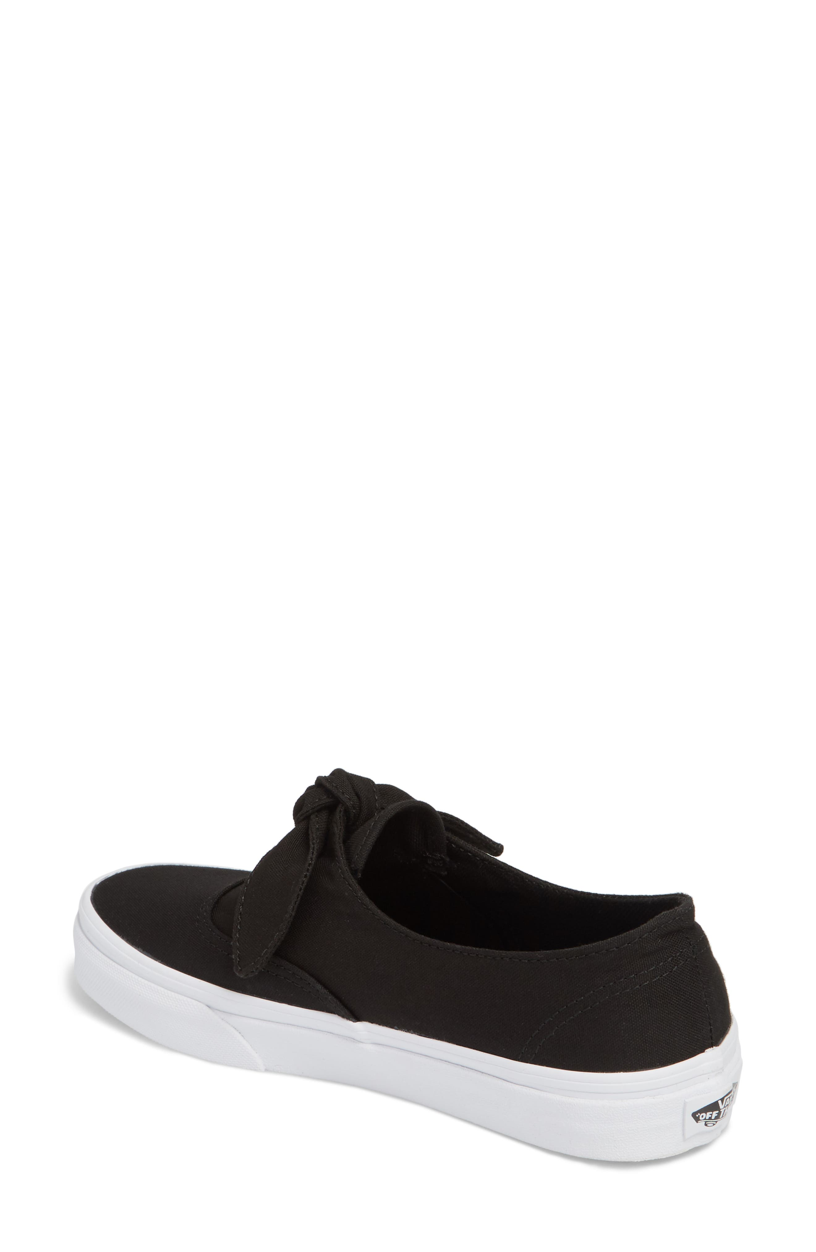 UA Authentic Knotted Slip-On Sneaker,                             Alternate thumbnail 2, color,                             001