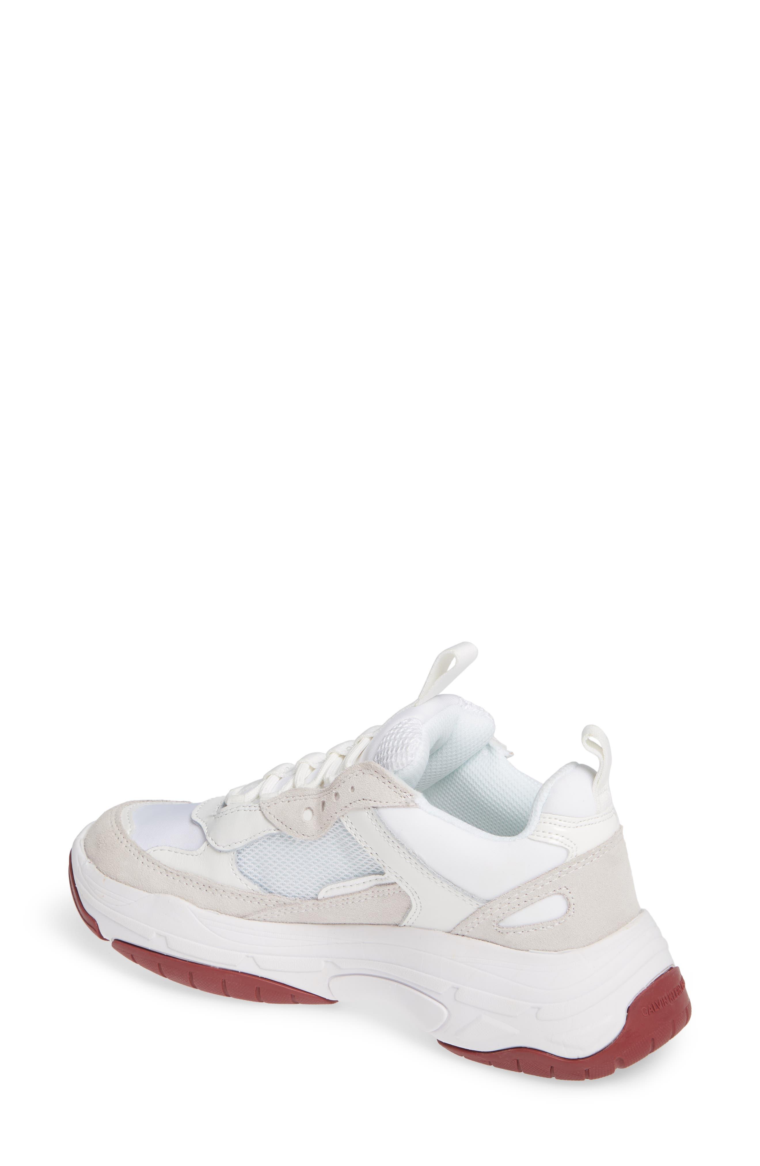 Maya Sneaker,                             Alternate thumbnail 2, color,                             WHITE FABRIC