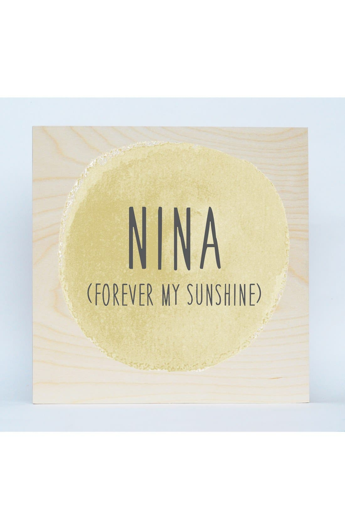'Sunshine' Personalized Birchwood Wall Art,                         Main,                         color,