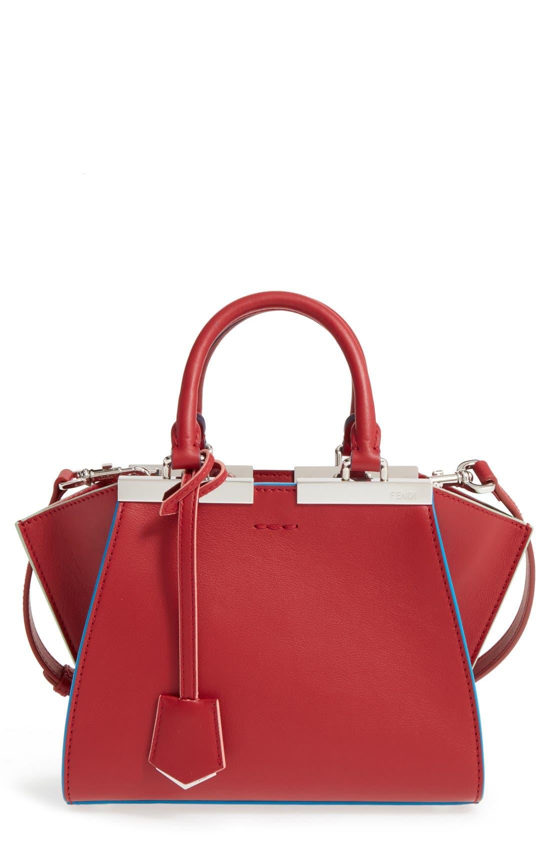 'Mini 3Jours' Calfskin Leather Shopper,                             Main thumbnail 5, color,