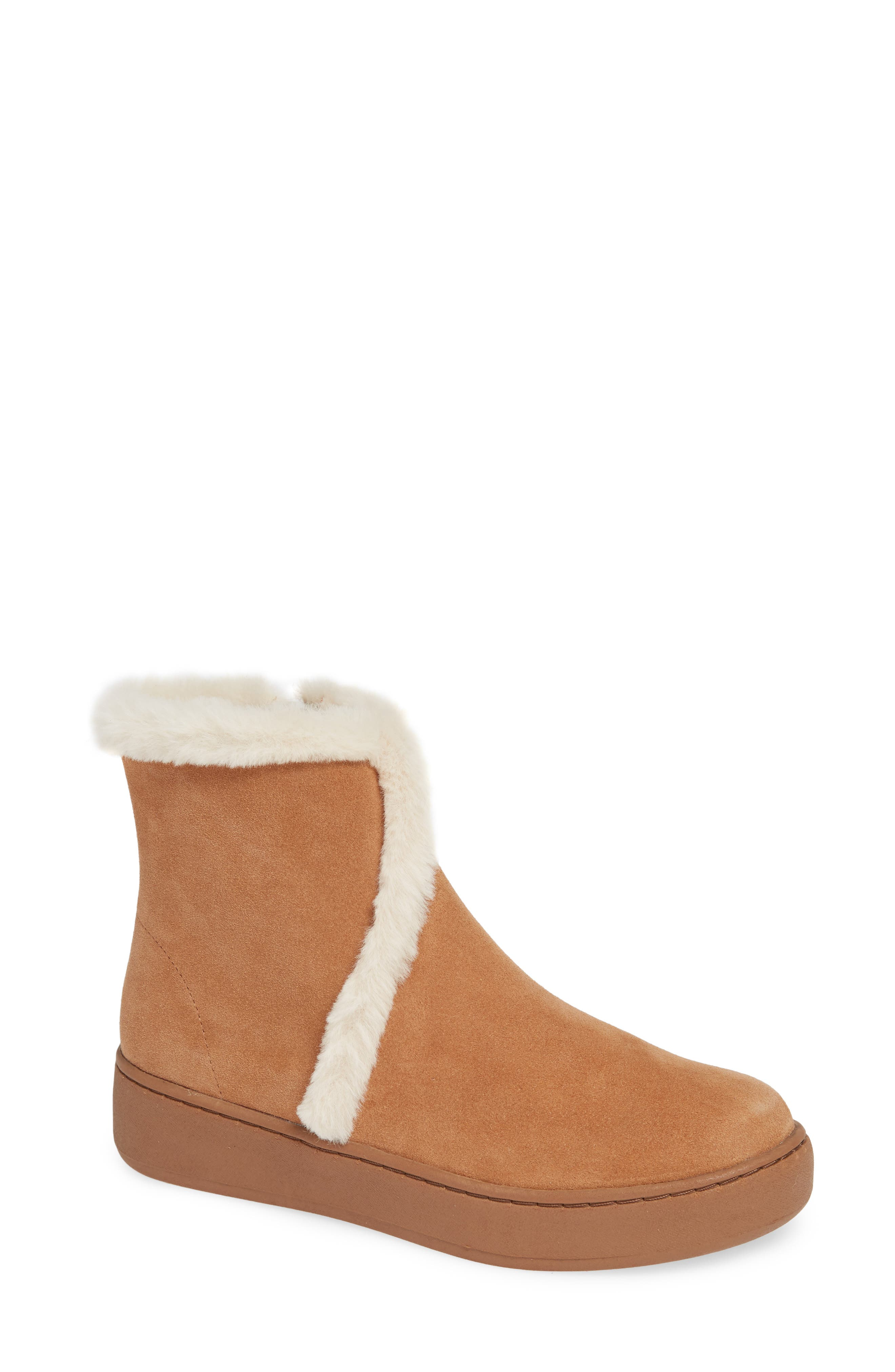 Soludos Whistler Cozy Faux Fur Lined Boot, Brown
