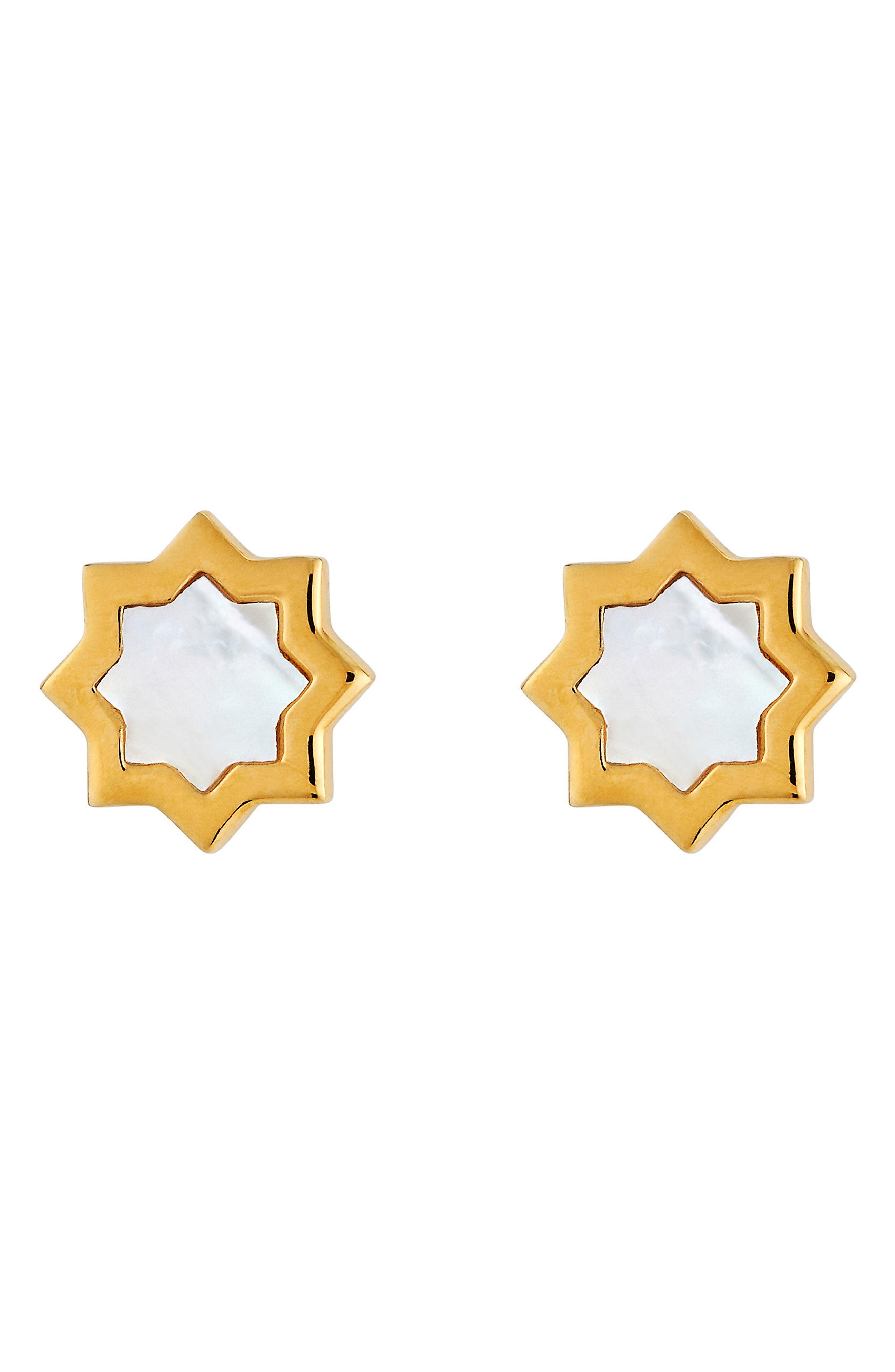 Kismet Mother-of-Pearl Stud Earrings,                             Main thumbnail 1, color,