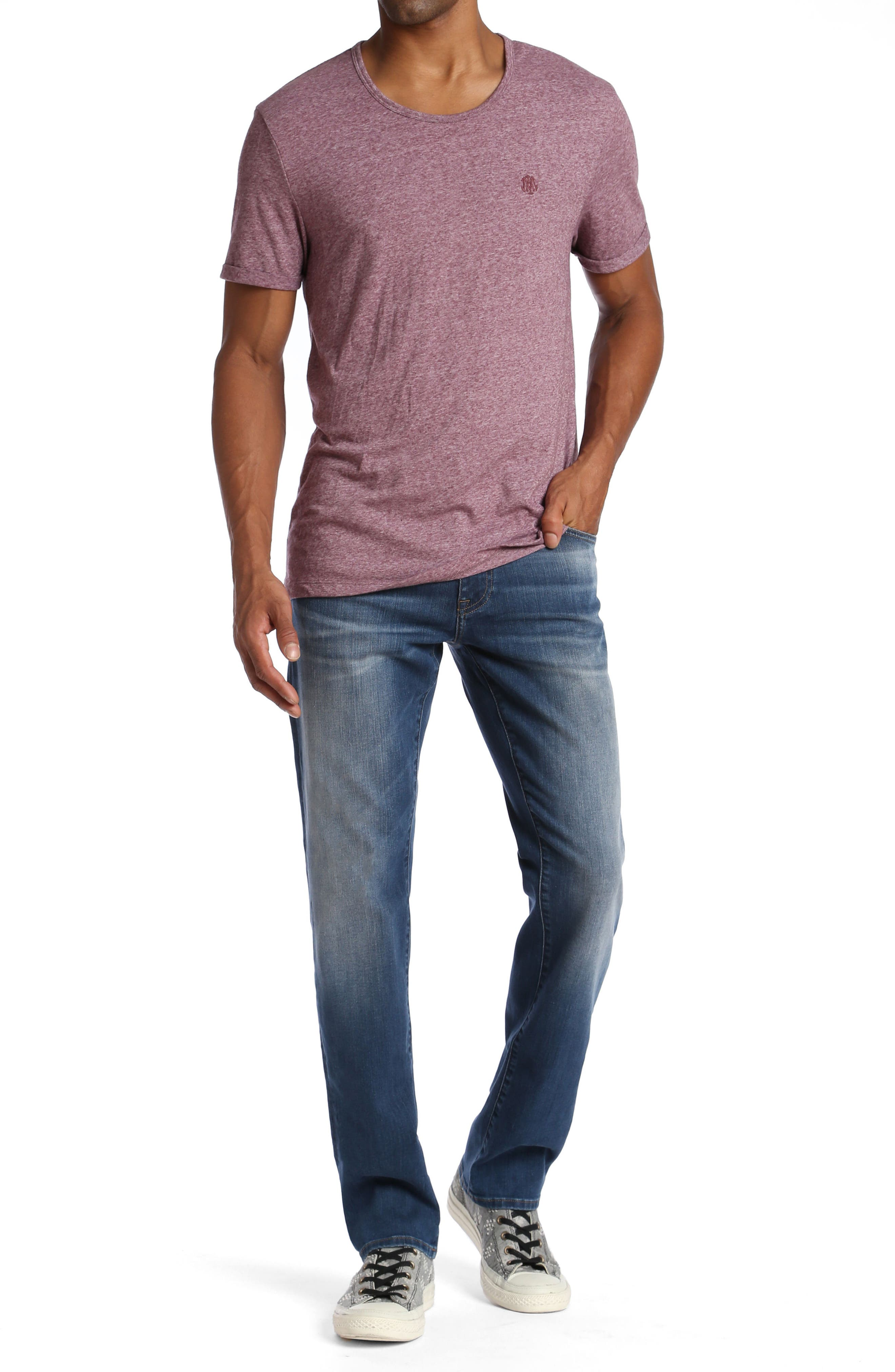 Zach Straight Fit Jeans,                             Alternate thumbnail 7, color,