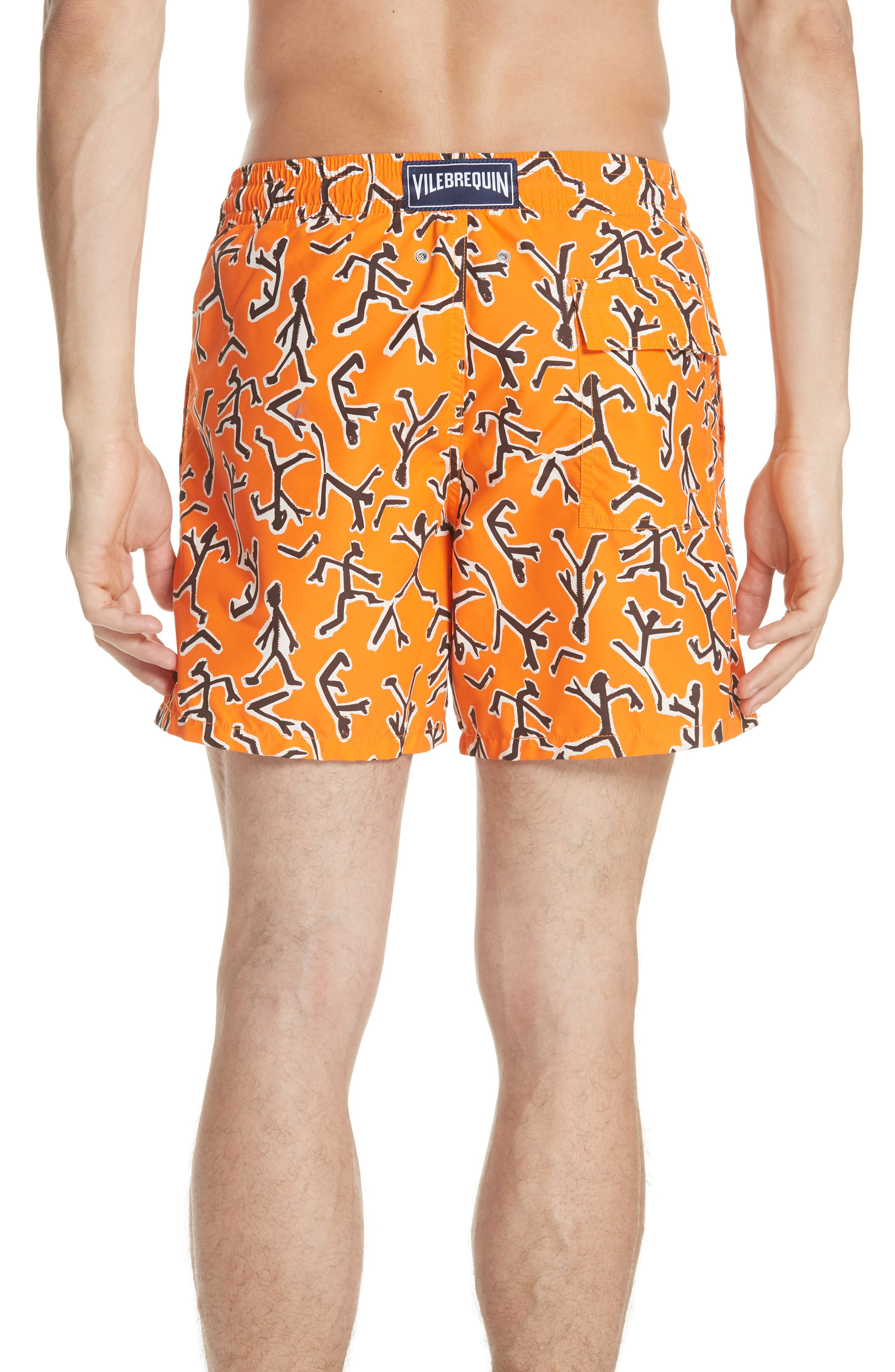 Fire Dance Swim Trunks,                             Alternate thumbnail 2, color,                             PAPAYA