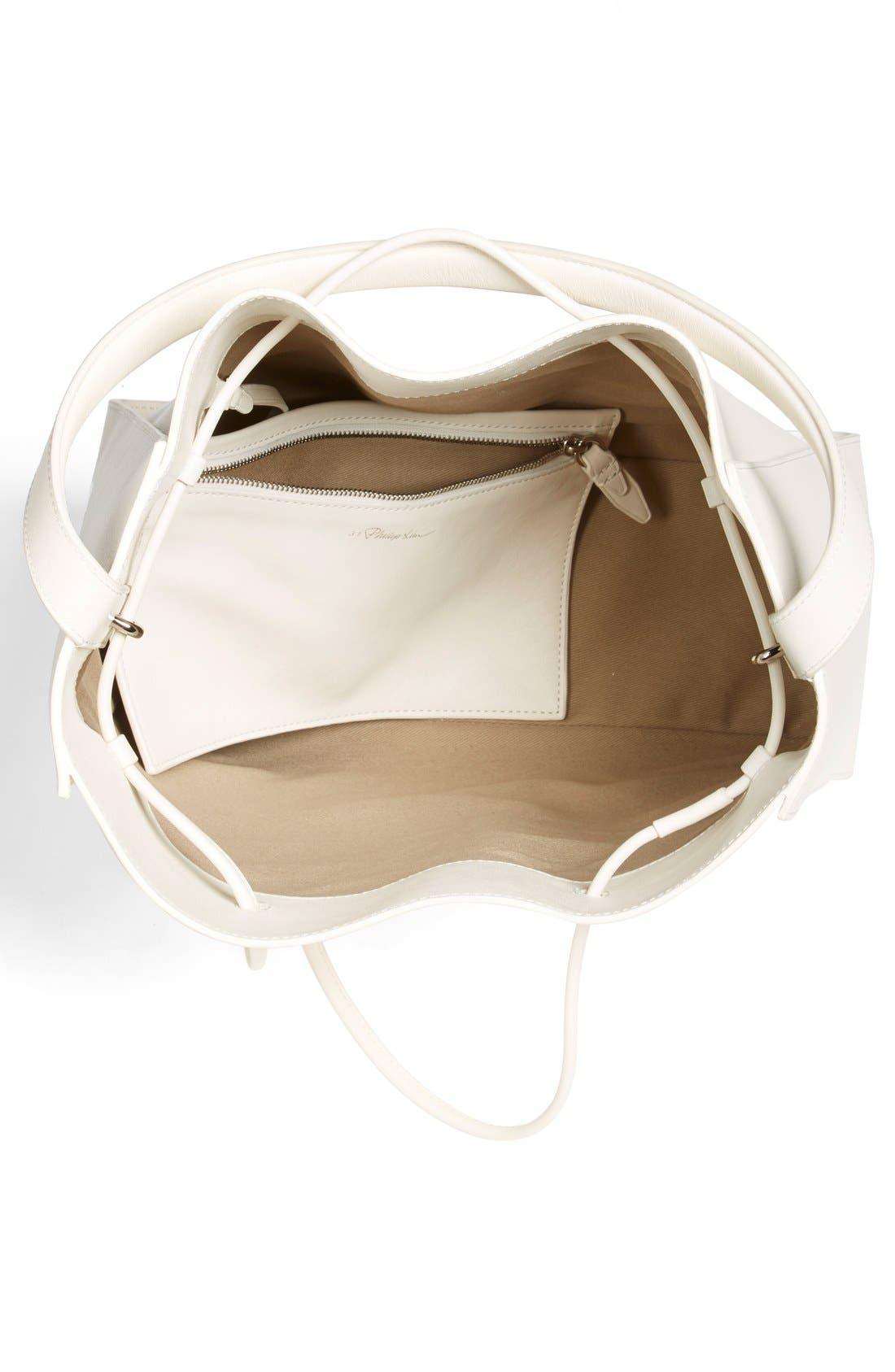 'Large Soleil' Leather Bucket Bag,                             Alternate thumbnail 6, color,