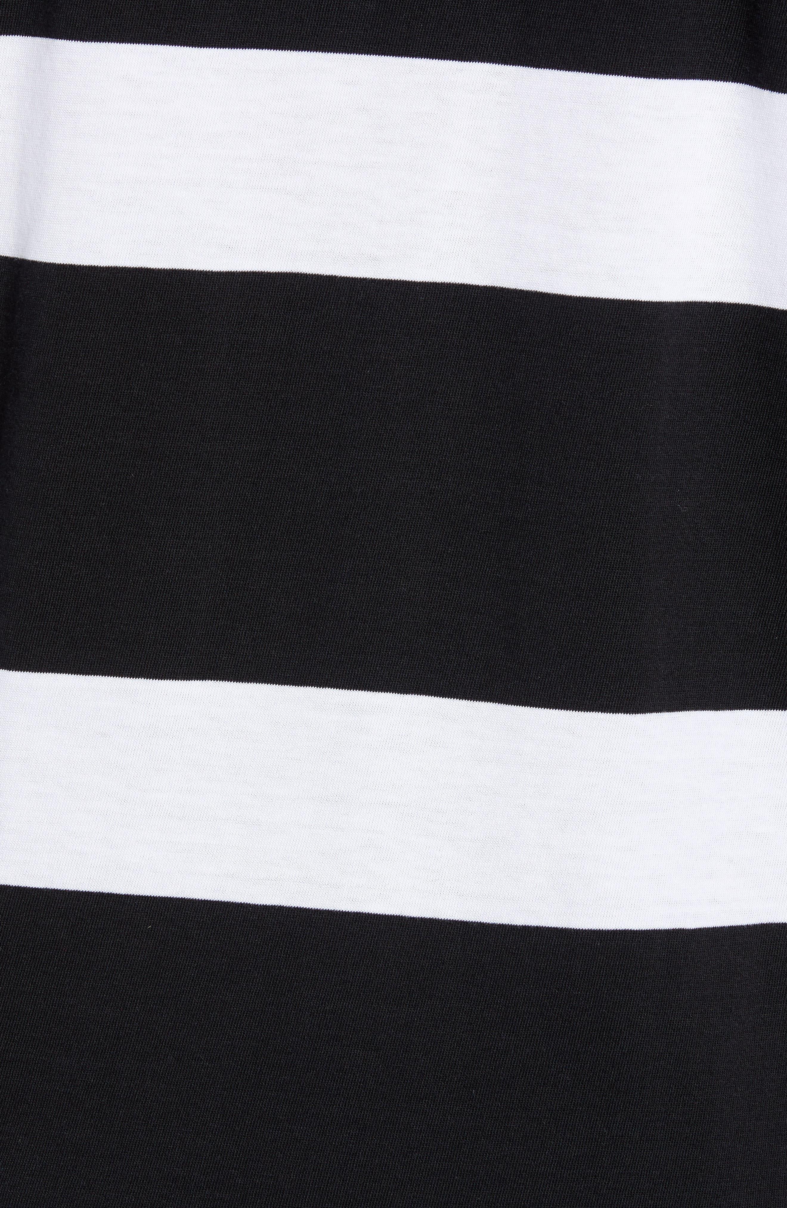 Pocket T-Shirt,                             Alternate thumbnail 5, color,                             BLACK/ WHITE STRIPES