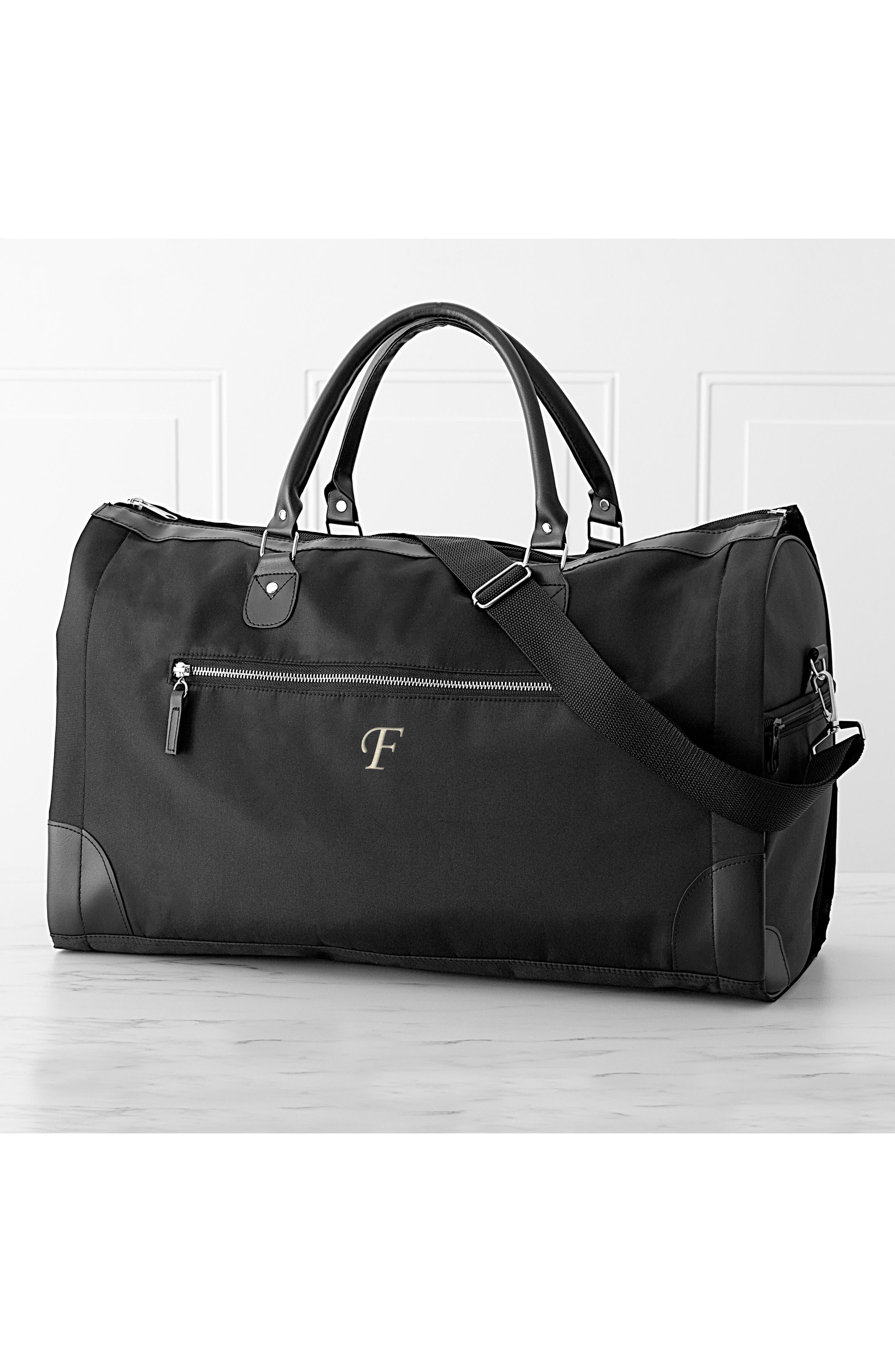 Monogram Duffel/Garment Bag,                             Alternate thumbnail 7, color,                             BLACK