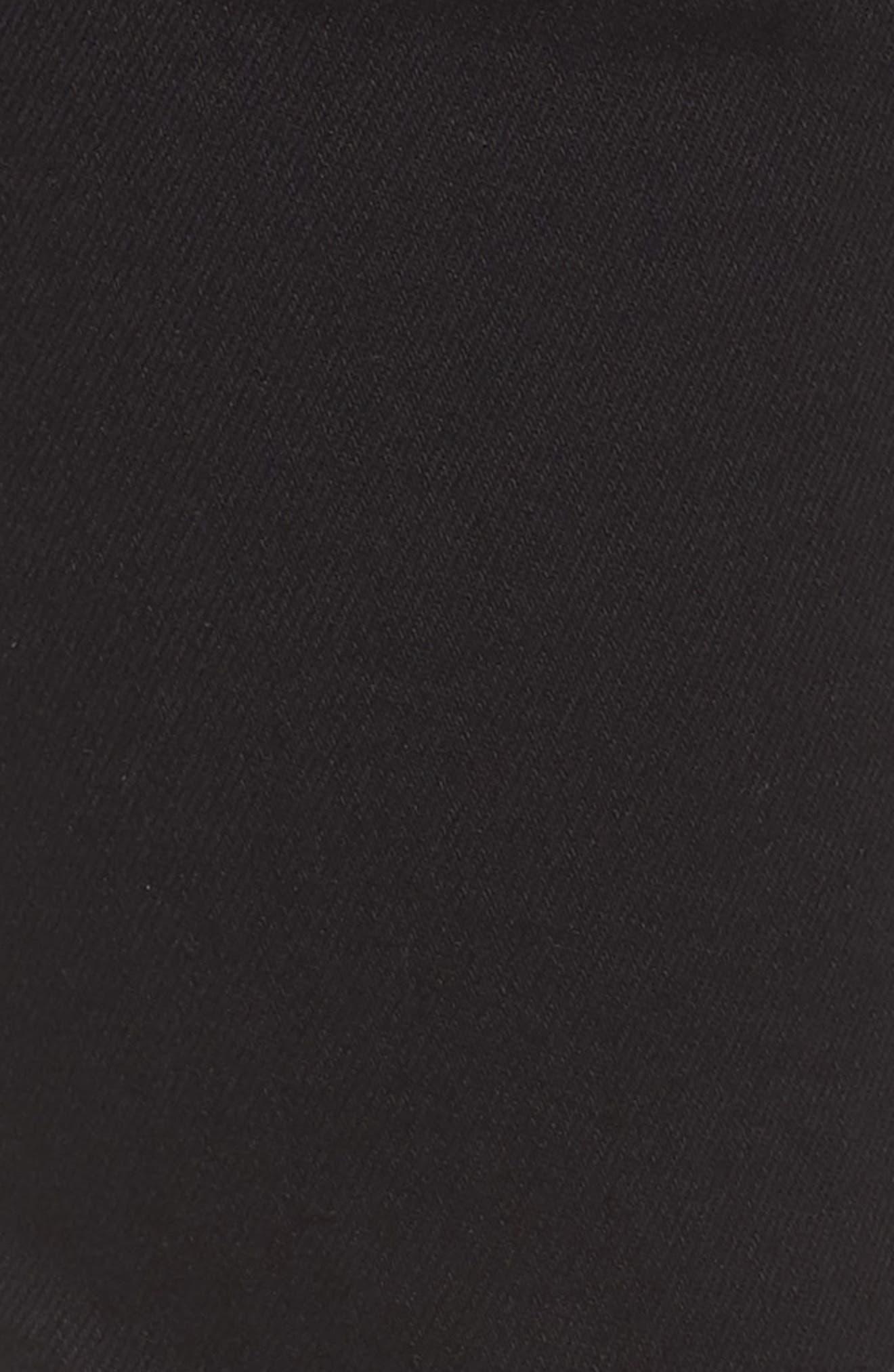 Karly Black Nolita Roll Cuff Bermuda Shorts,                             Alternate thumbnail 5, color,                             001