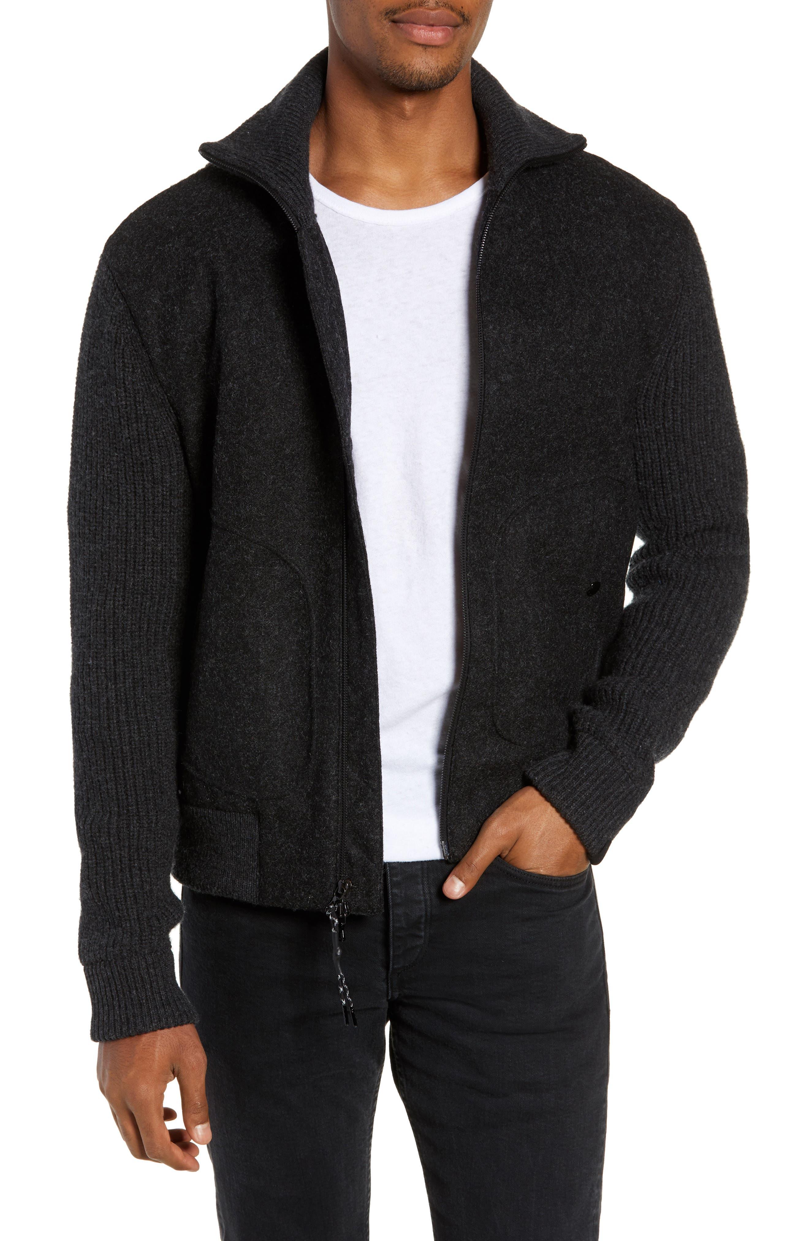 Carson Wool Jacket,                         Main,                         color, CHARCOAL