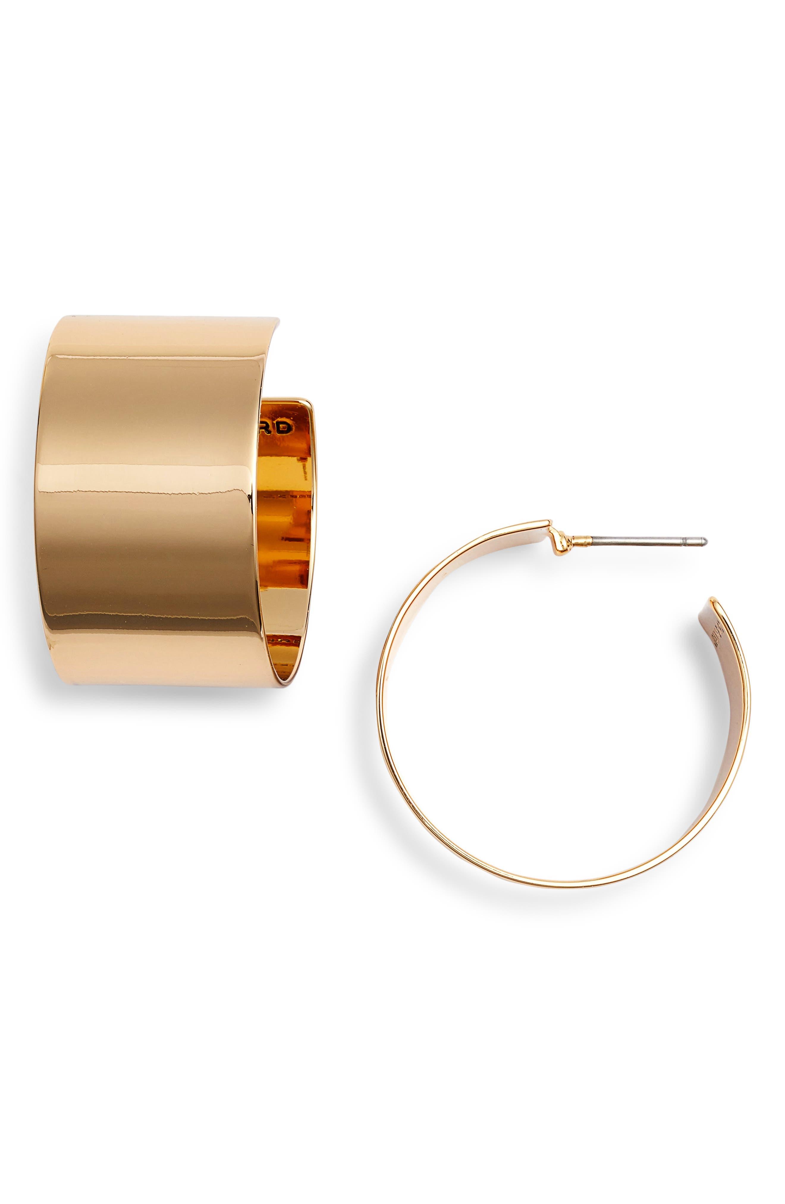 JENNY BIRD Fundamentals Hoop Earrings in Gold