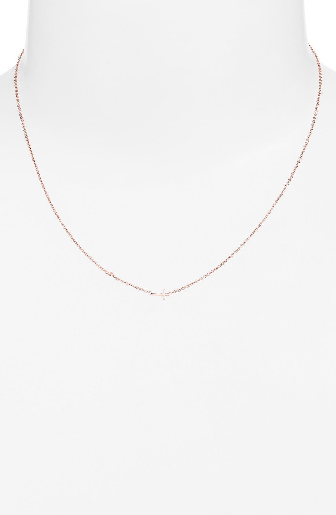Shy by SE Cross Necklace,                             Alternate thumbnail 6, color,