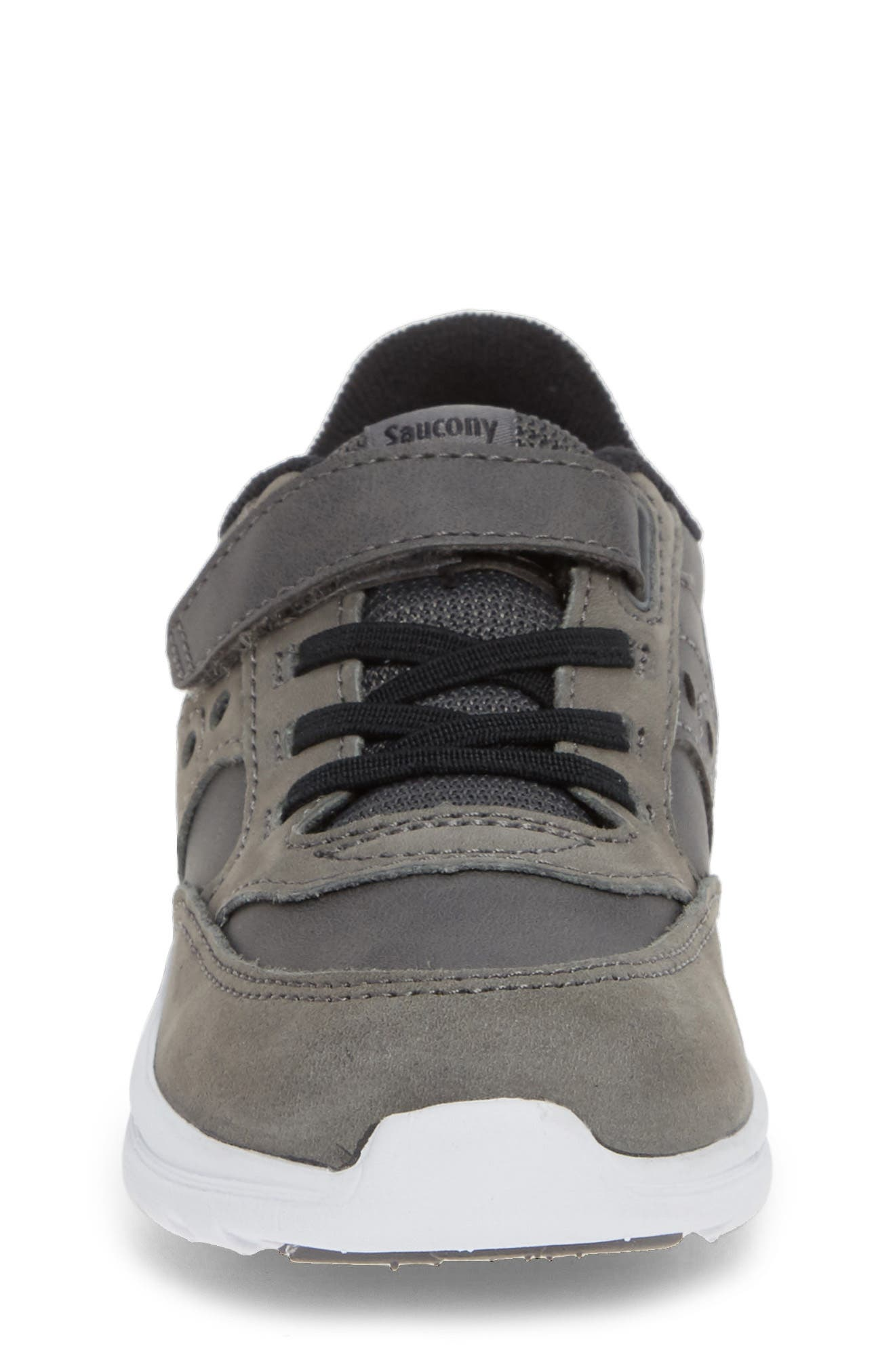 'Baby Jazz - Lite' Sneaker,                             Alternate thumbnail 4, color,                             GREY LEATHER