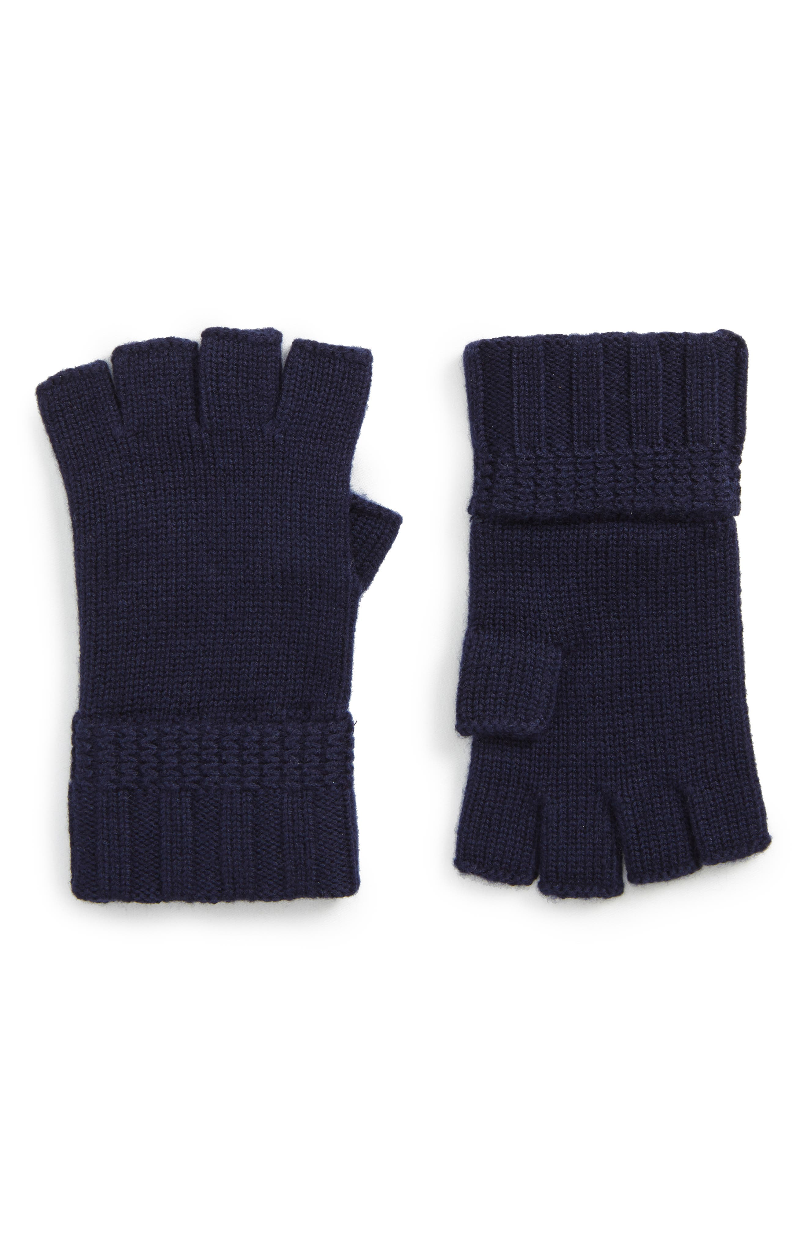 UGG<sup>®</sup> Texture Knit Fingerless Gloves,                             Main thumbnail 3, color,