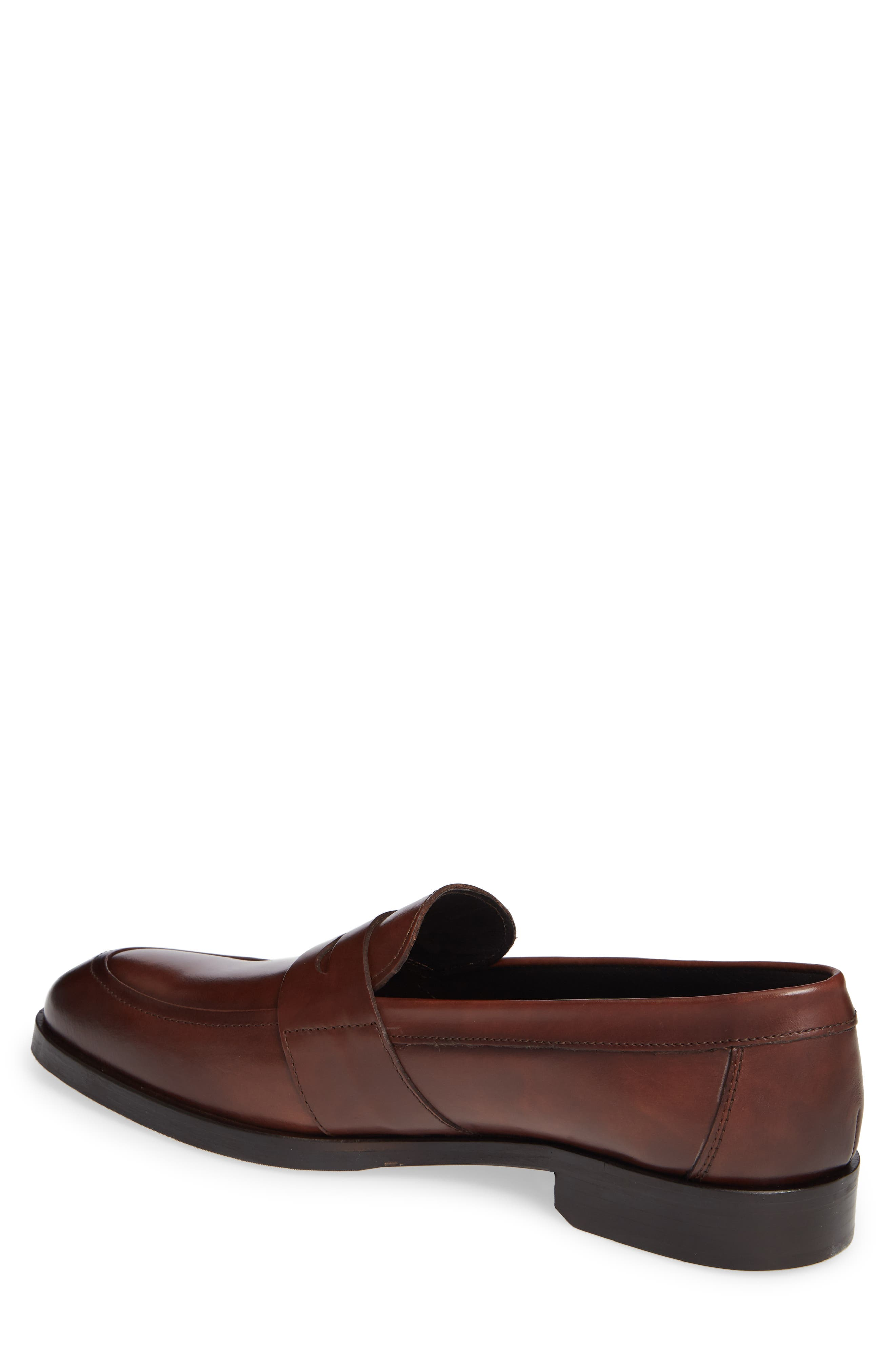 Devries Penny Loafer,                             Alternate thumbnail 2, color,                             VITELLO BRUCIATO LEATHER