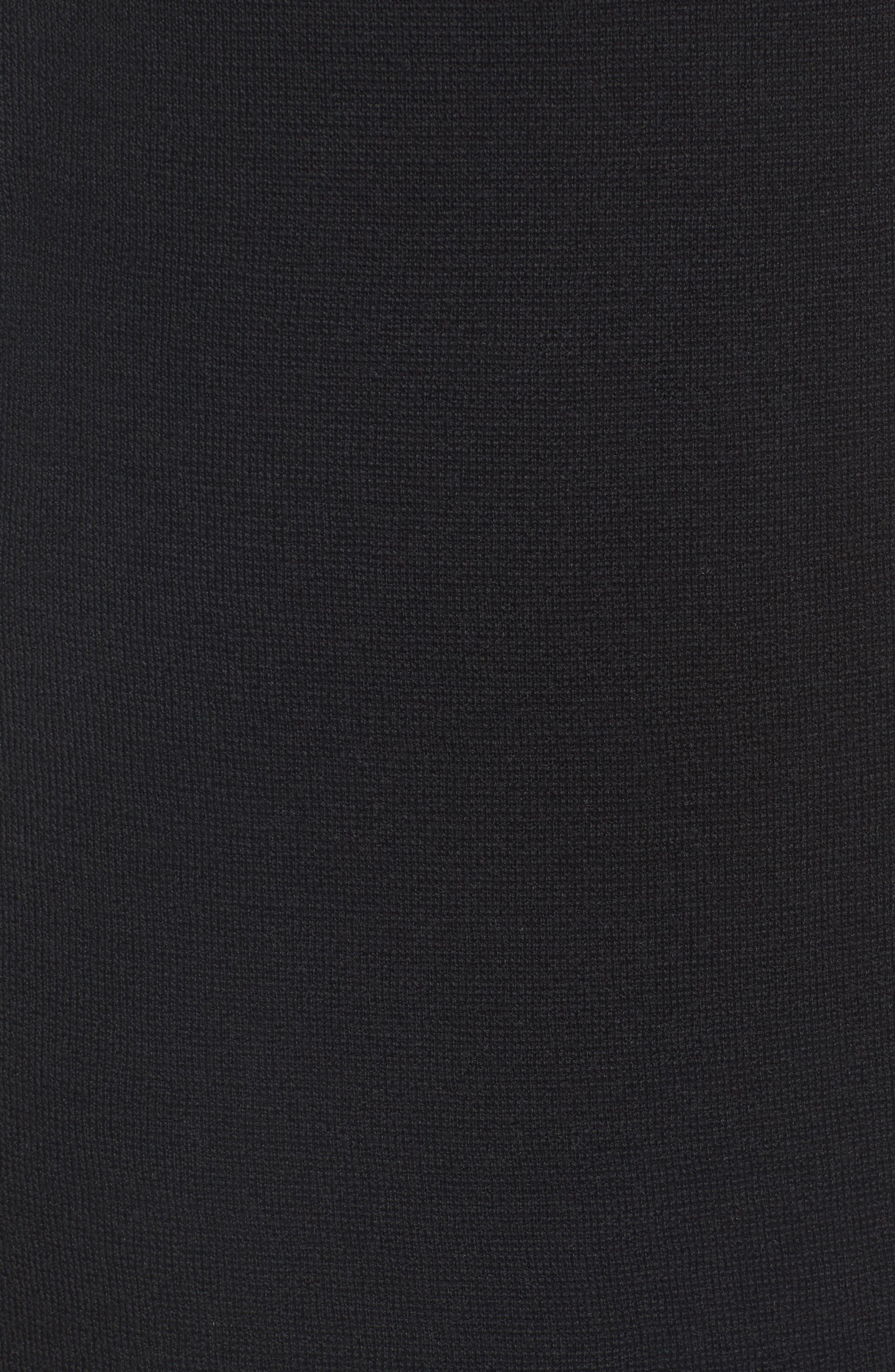 Merino Wool Sweater Dress,                             Alternate thumbnail 5, color,                             001