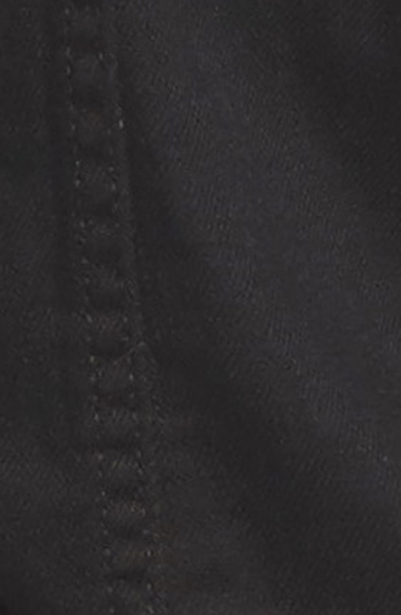 Distressed Crop Denim Jacket,                             Alternate thumbnail 6, color,