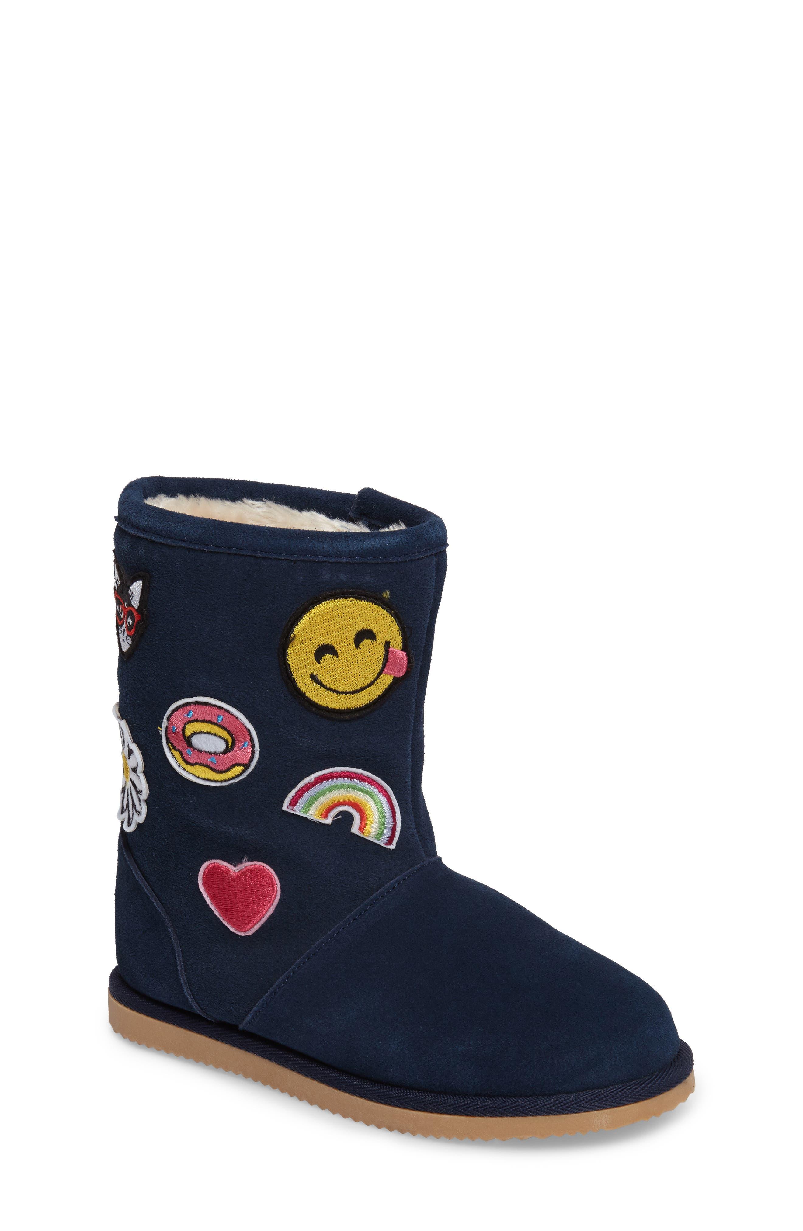 Connie Appliqué Faux Fur Boot,                         Main,                         color, 400