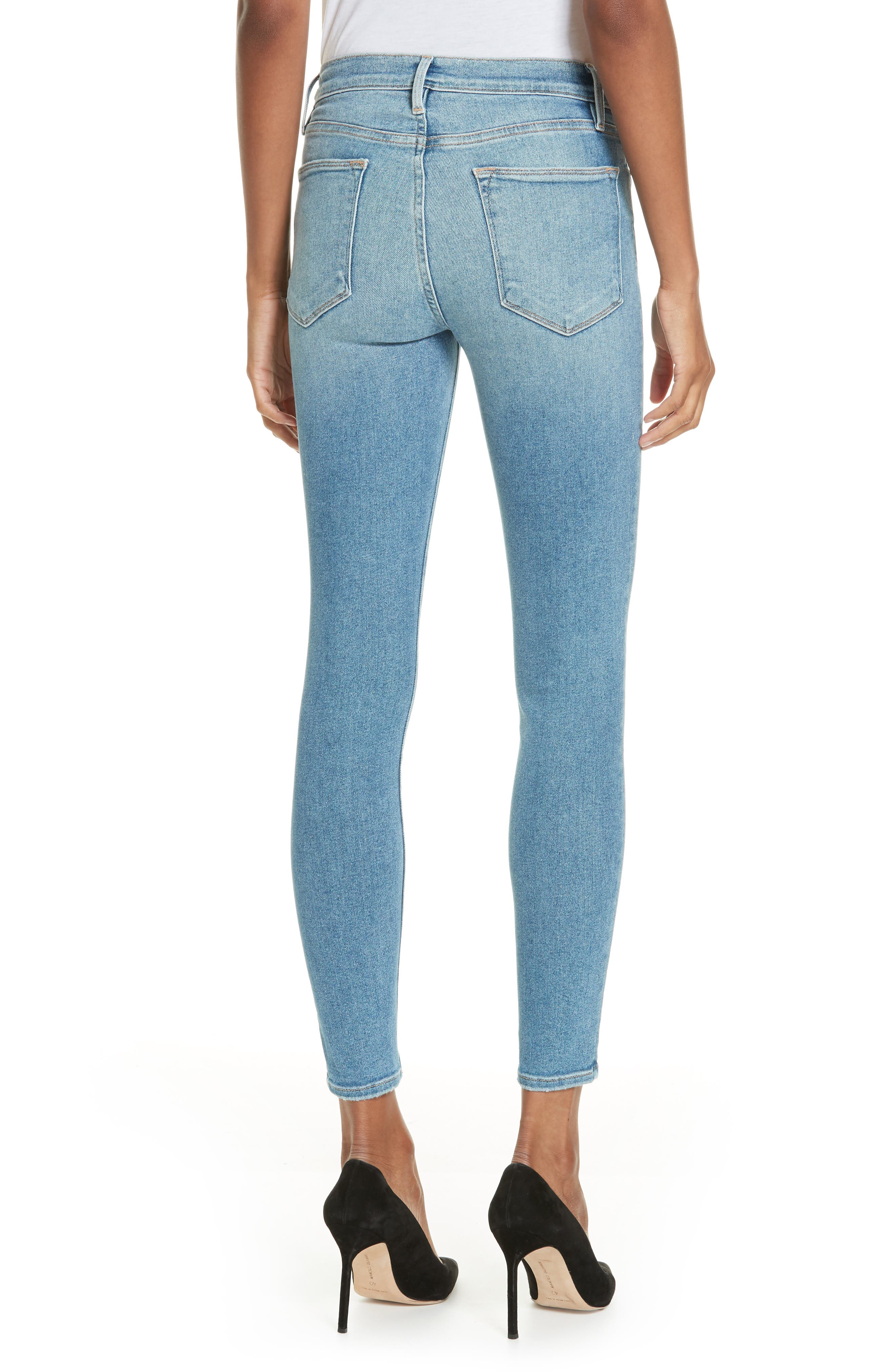 Le High Skinny Jeans,                             Alternate thumbnail 2, color,                             DUPONT DRIVE