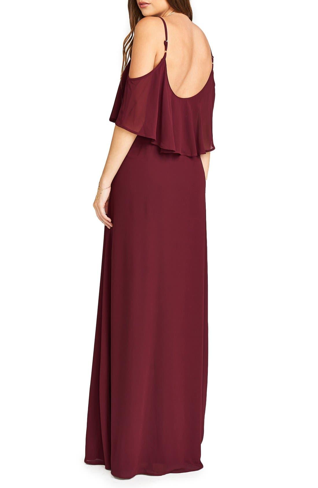 Caitlin Cold Shoulder Chiffon Gown,                             Alternate thumbnail 69, color,