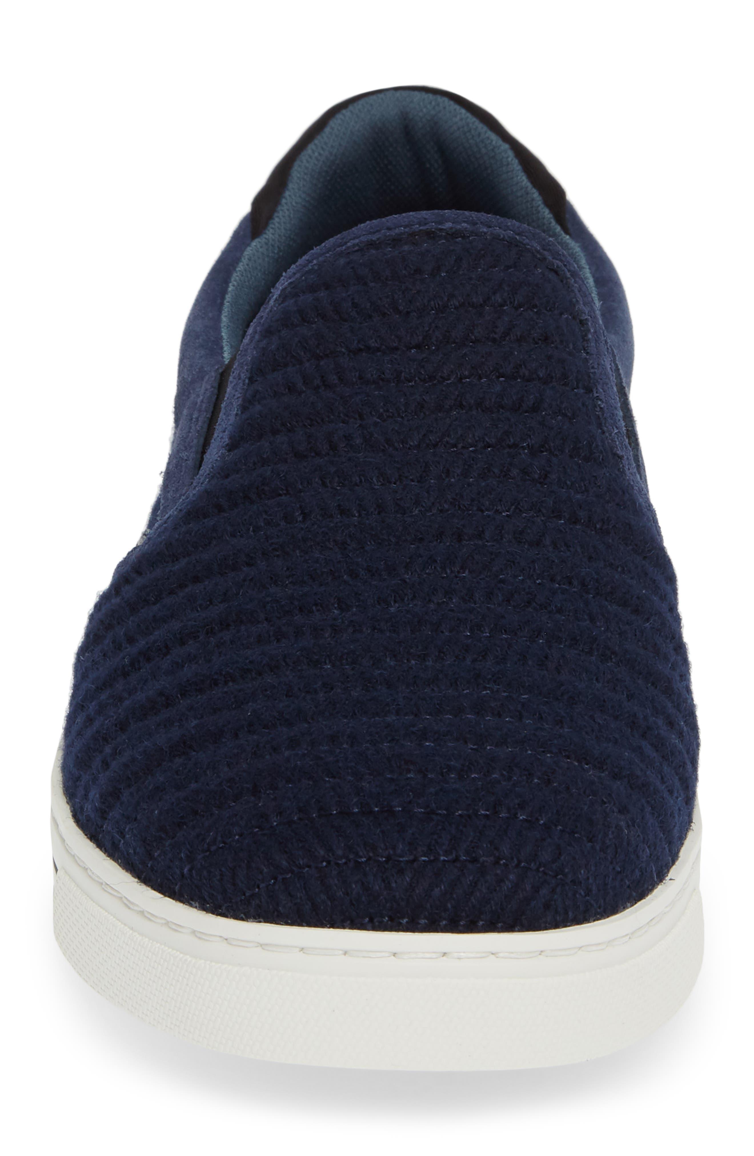 Daniam Slip-On Sneaker,                             Alternate thumbnail 4, color,                             DARK BLUE WOOL