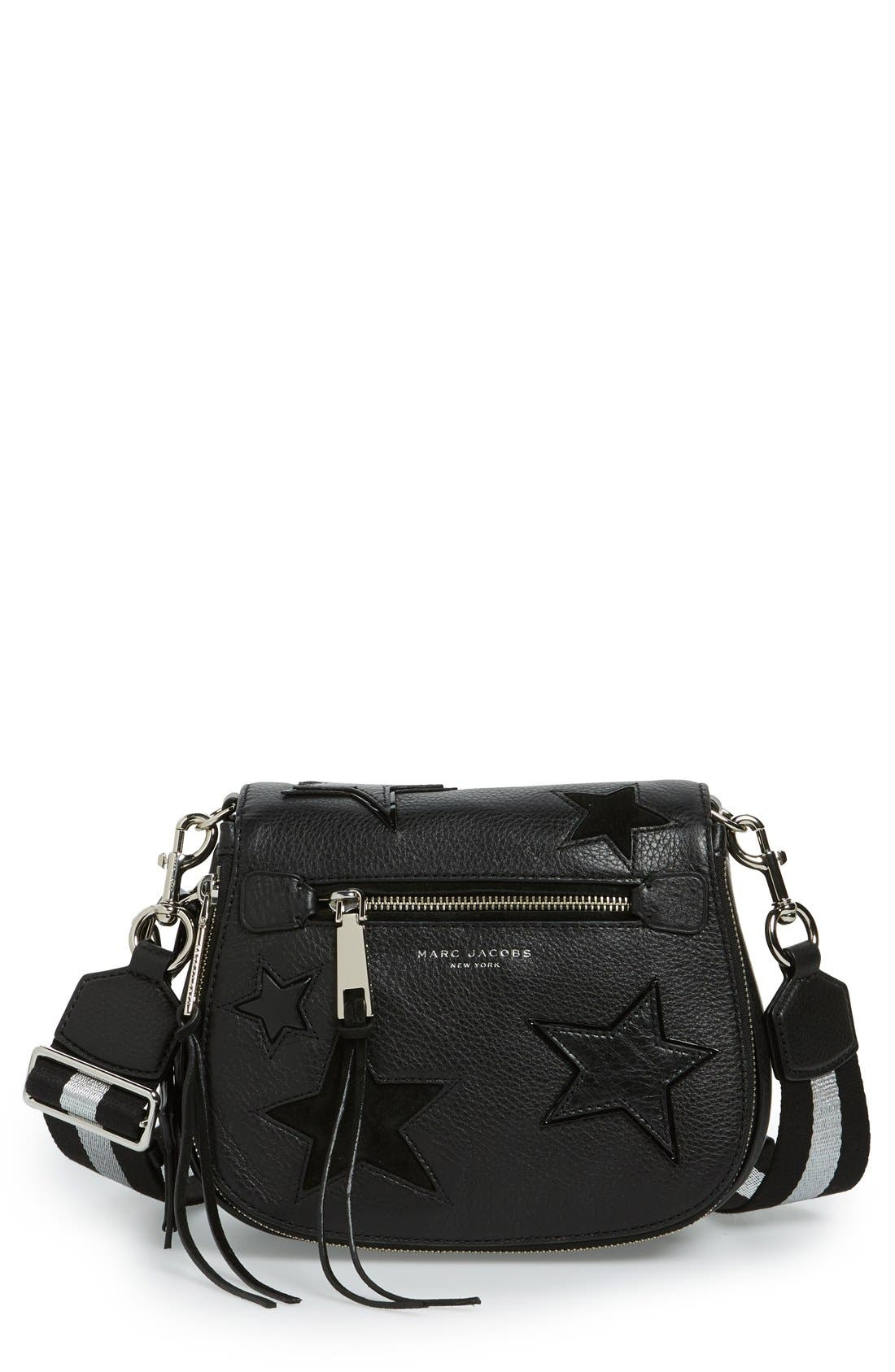 MARC JACOBS 'Star' Leather Crossbody Bag, Main, color, 002